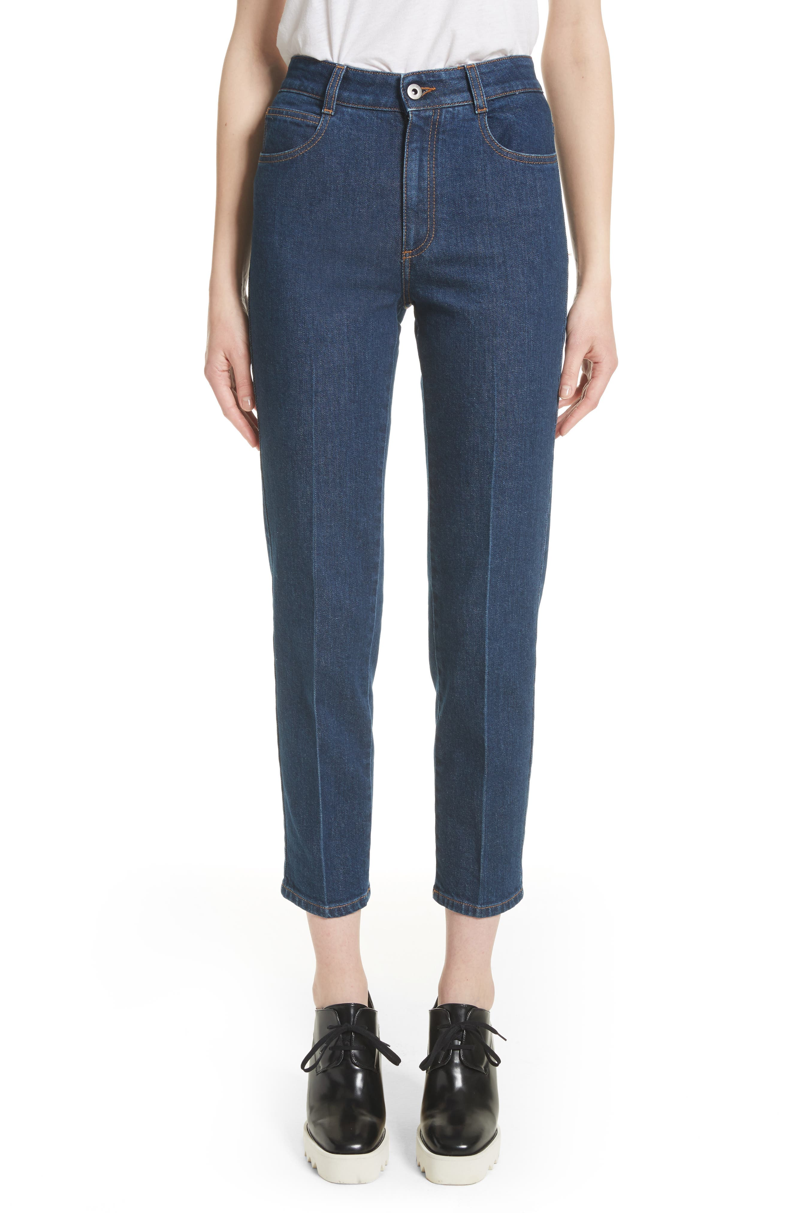 Crop Skinny Jeans,                             Main thumbnail 1, color,                             Midnight