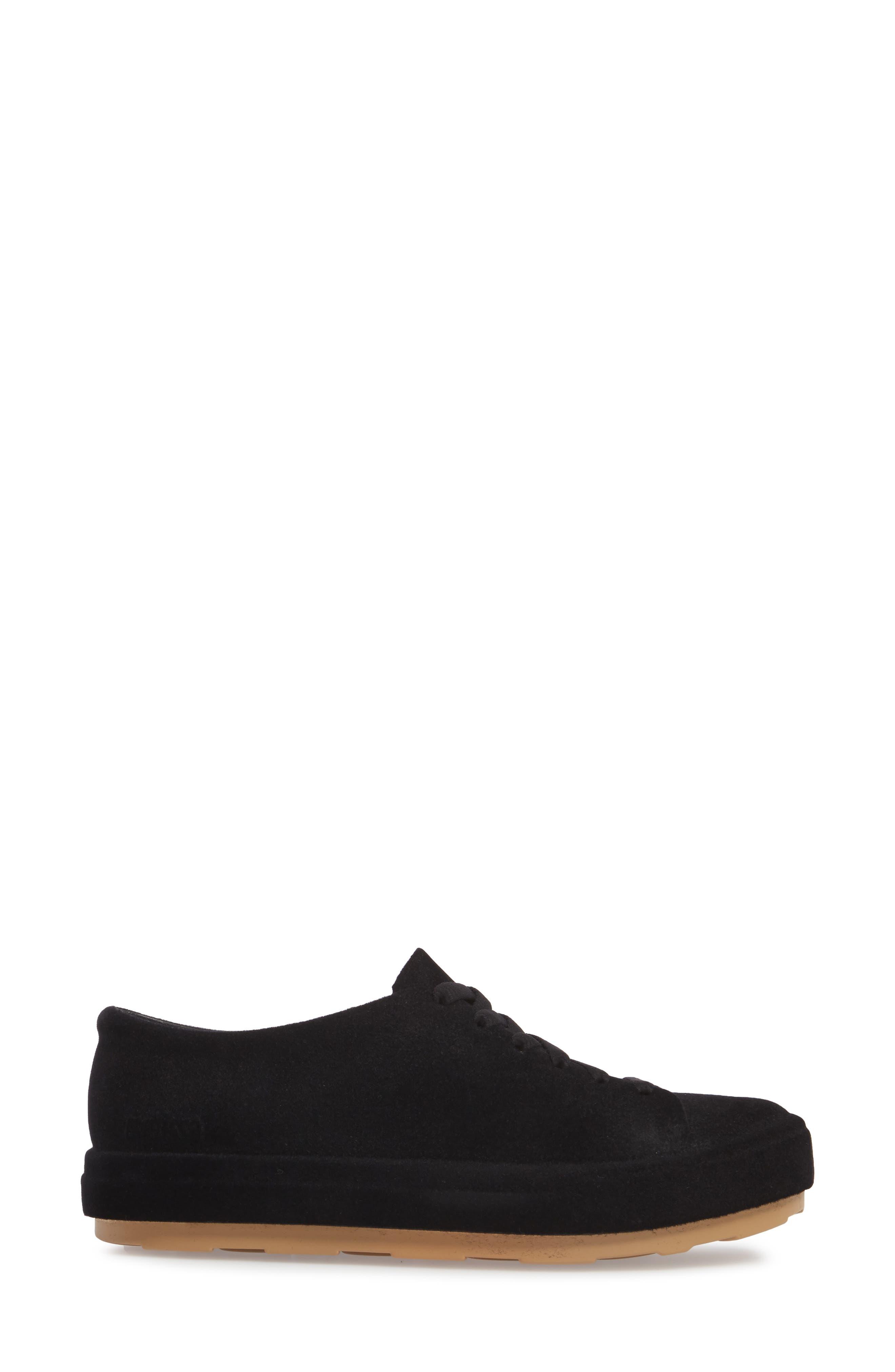 Be Flocked Sneaker,                             Alternate thumbnail 3, color,                             Black
