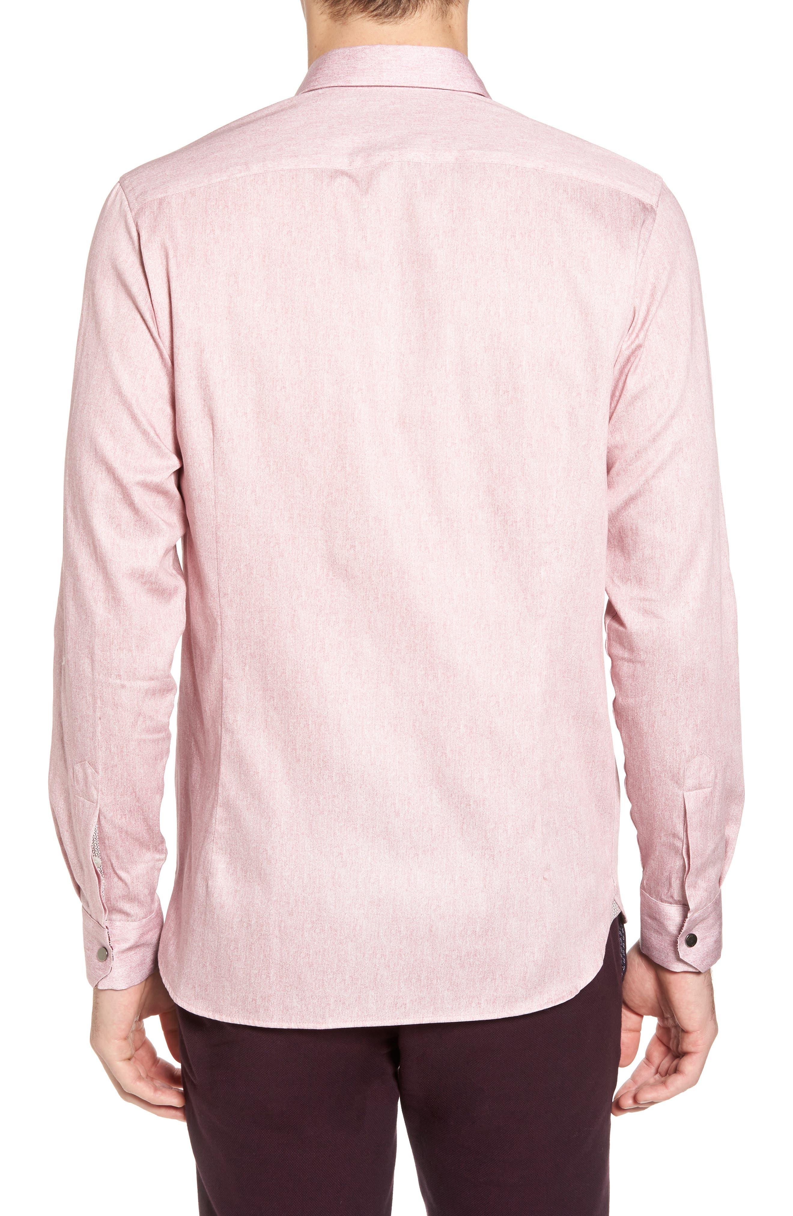 Alternate Image 2  - Ted Baker London Lili Slim Fit Herringbone Sport Shirt