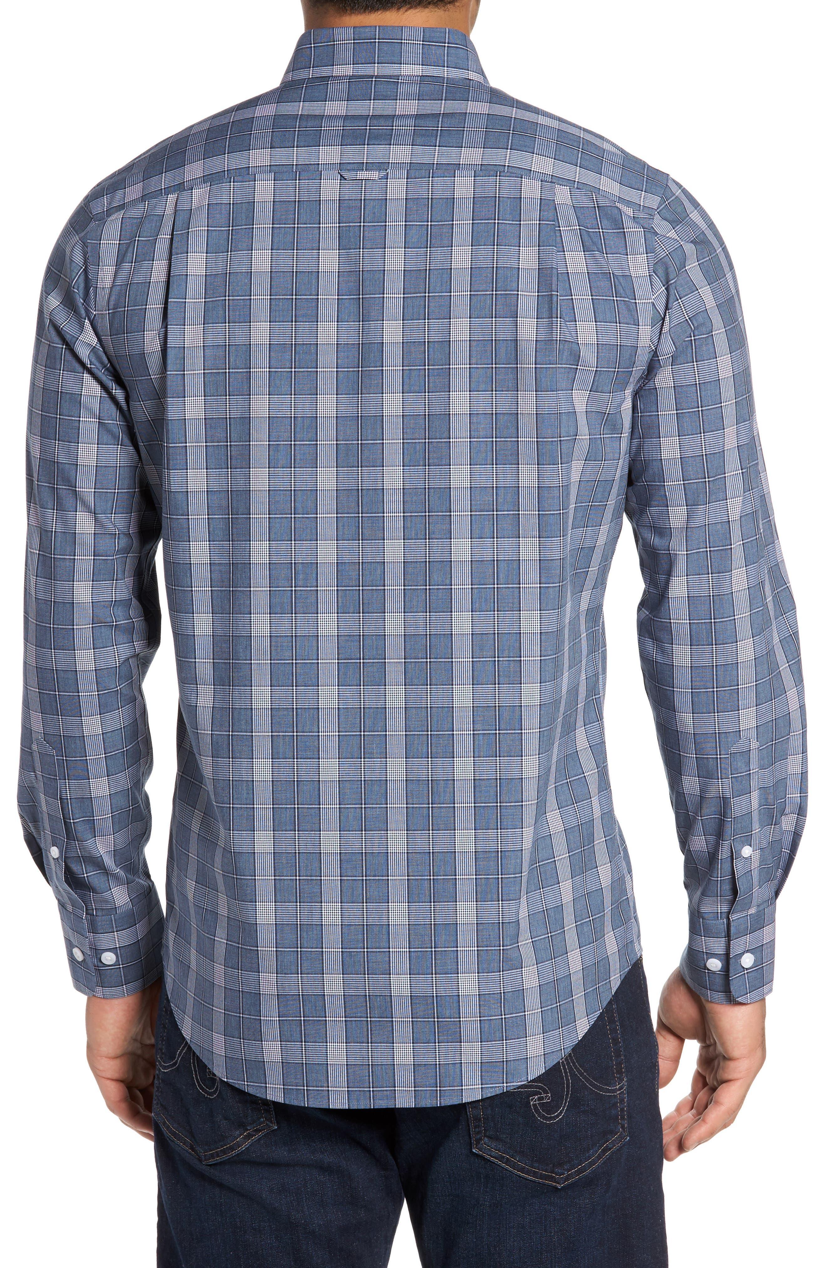 Alternate Image 2  - Nordstrom Men's Shop Non-Iron Spade Plaid Sport Shirt