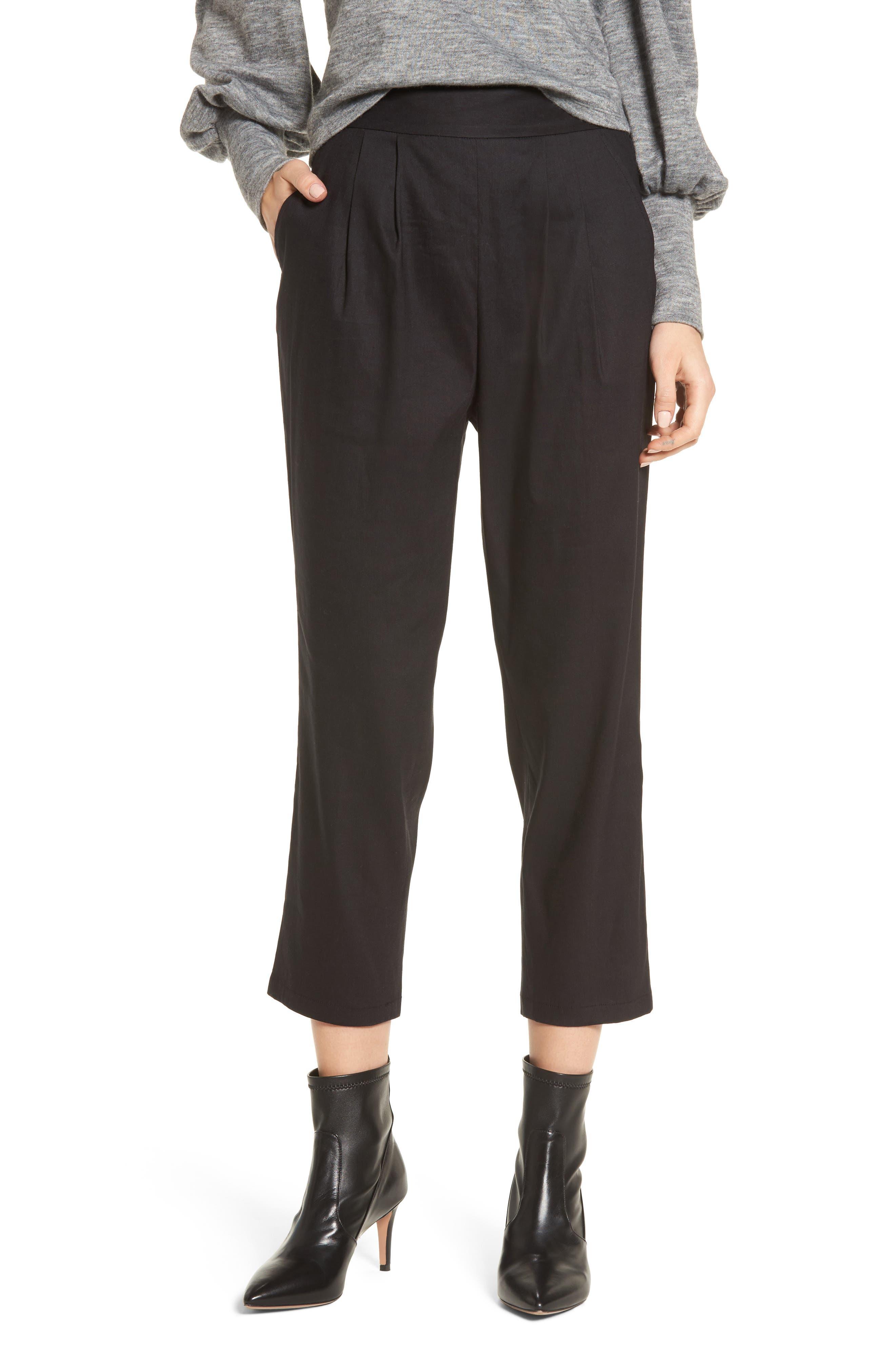 Leith Pleat Front Crop Pants