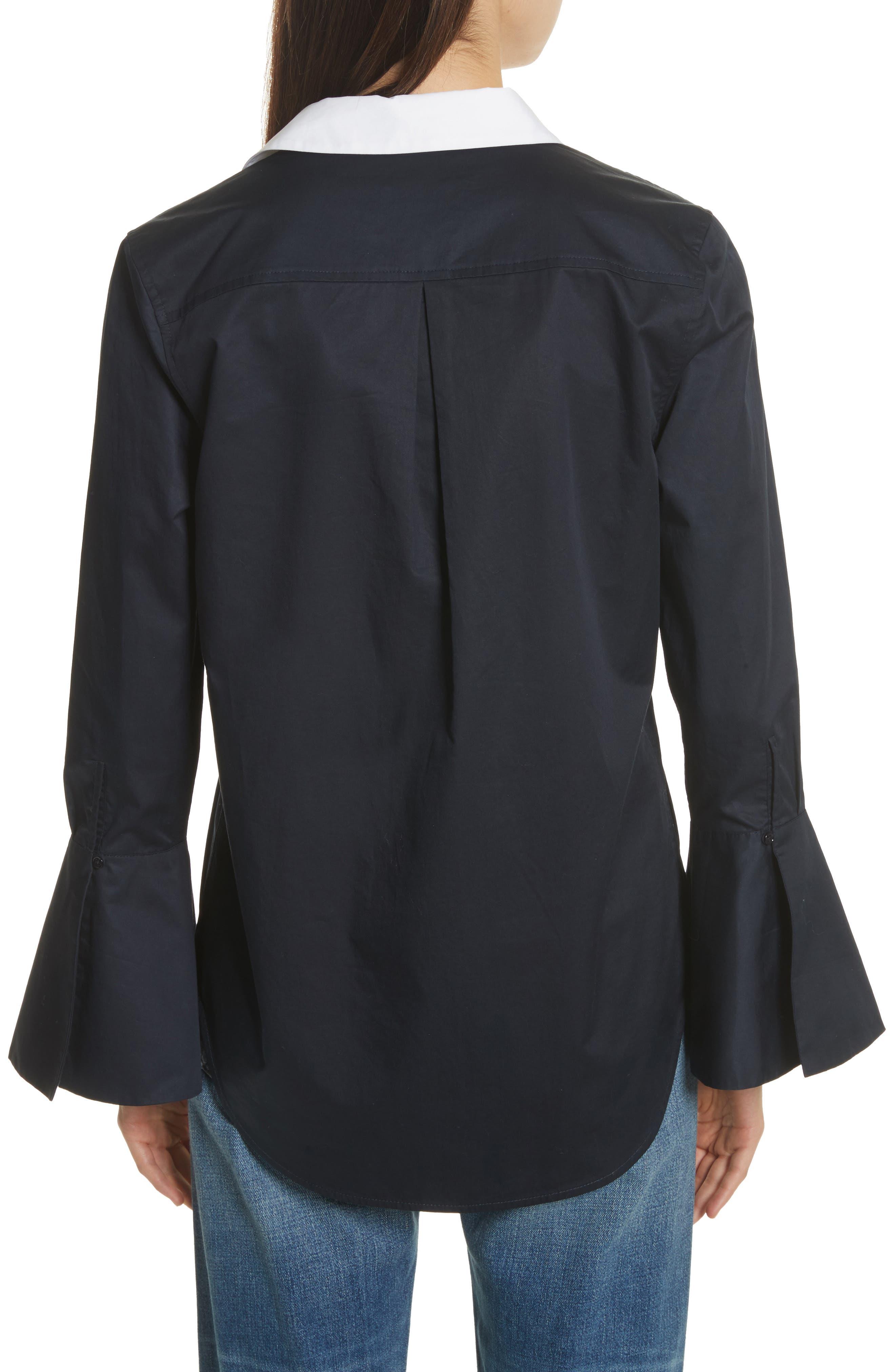 Darla Bell Cuff Shirt,                             Alternate thumbnail 2, color,                             Eclipse