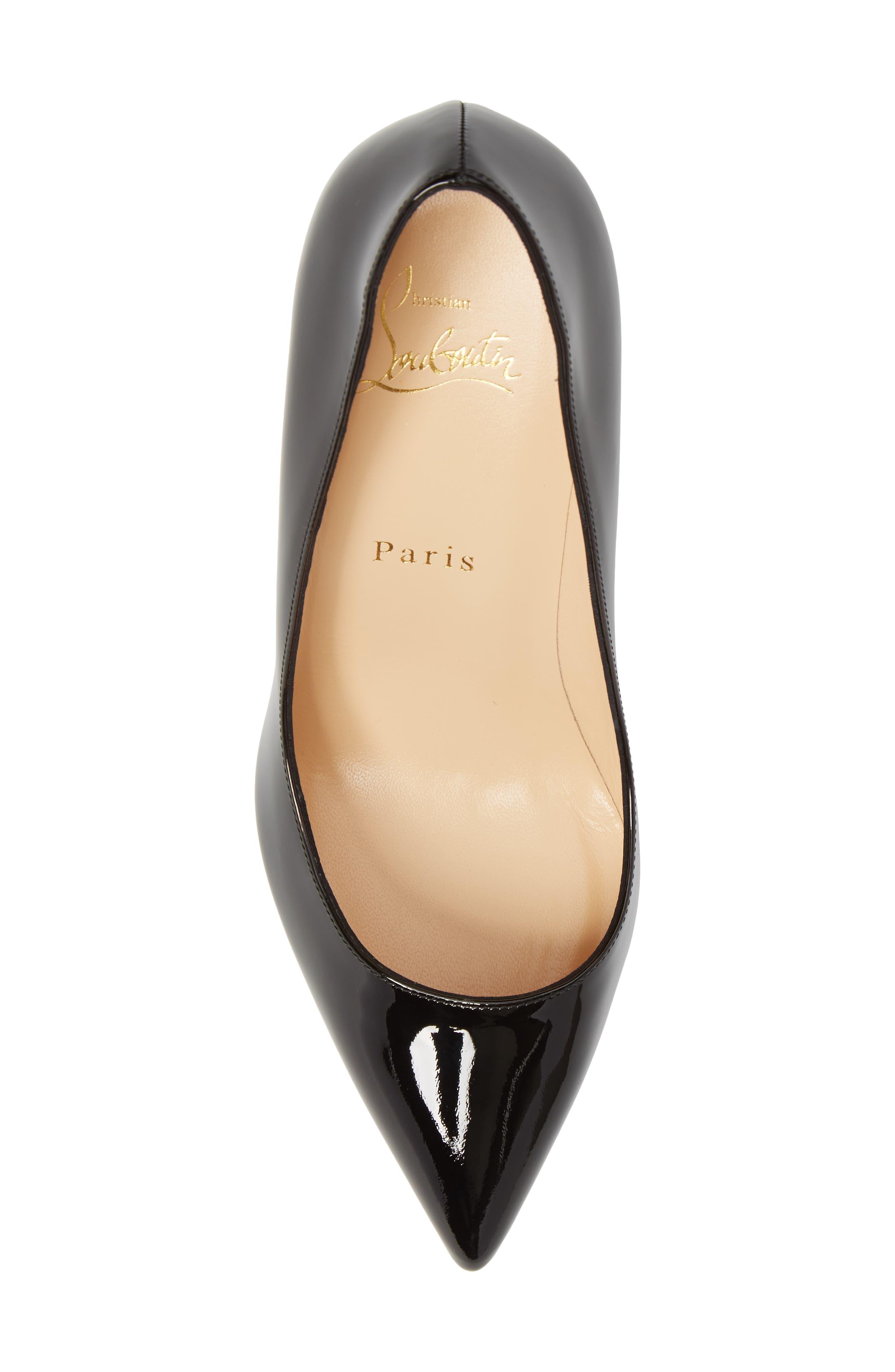 Pigalle Plato Pointy Toe Platform Pump,                             Alternate thumbnail 5, color,                             Black Patent