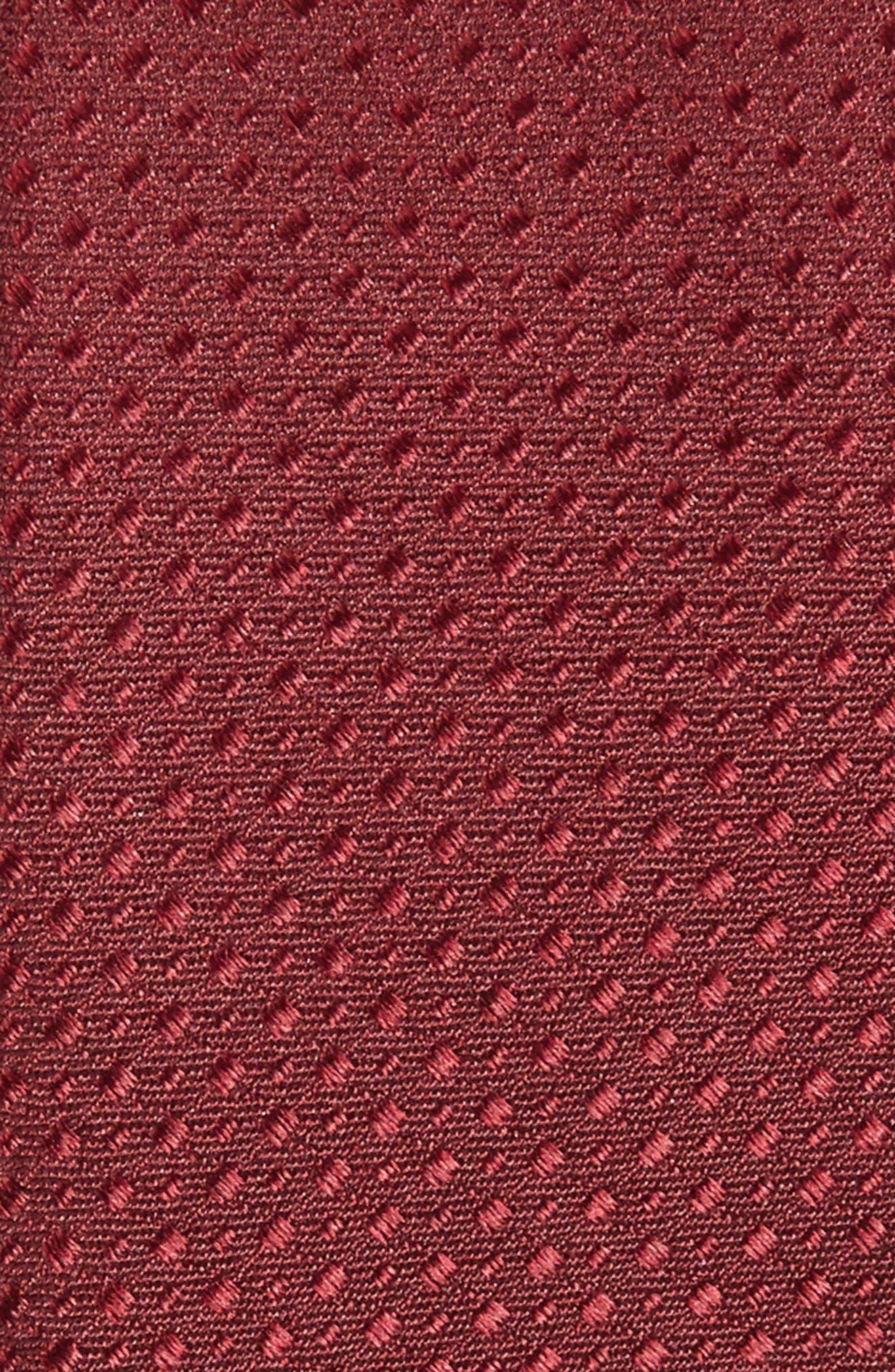 Ballard Solid Silk Tie,                             Alternate thumbnail 2, color,                             Burgundy