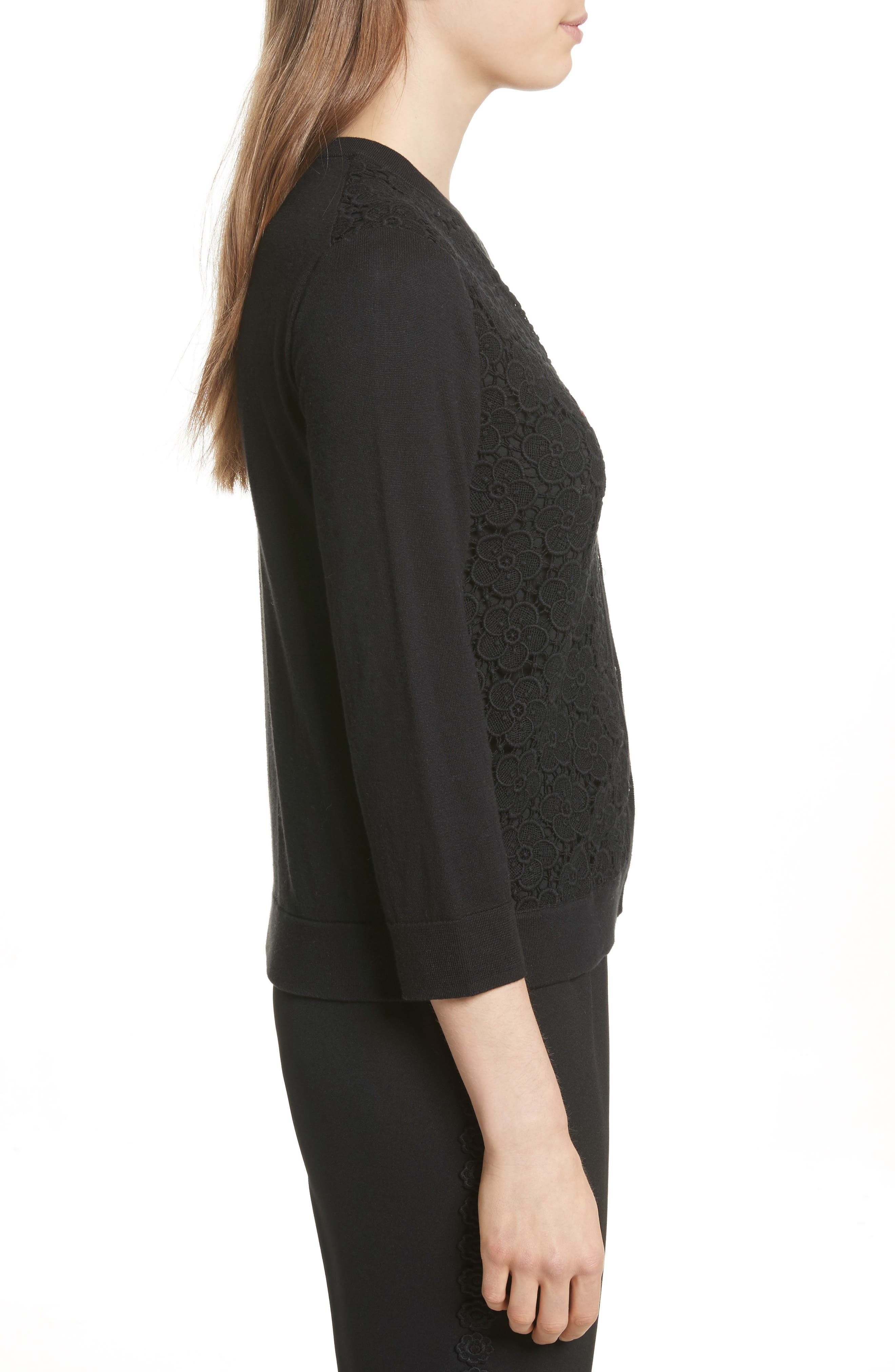 Alternate Image 3  - kate spade new york bloom floral lace cardigan