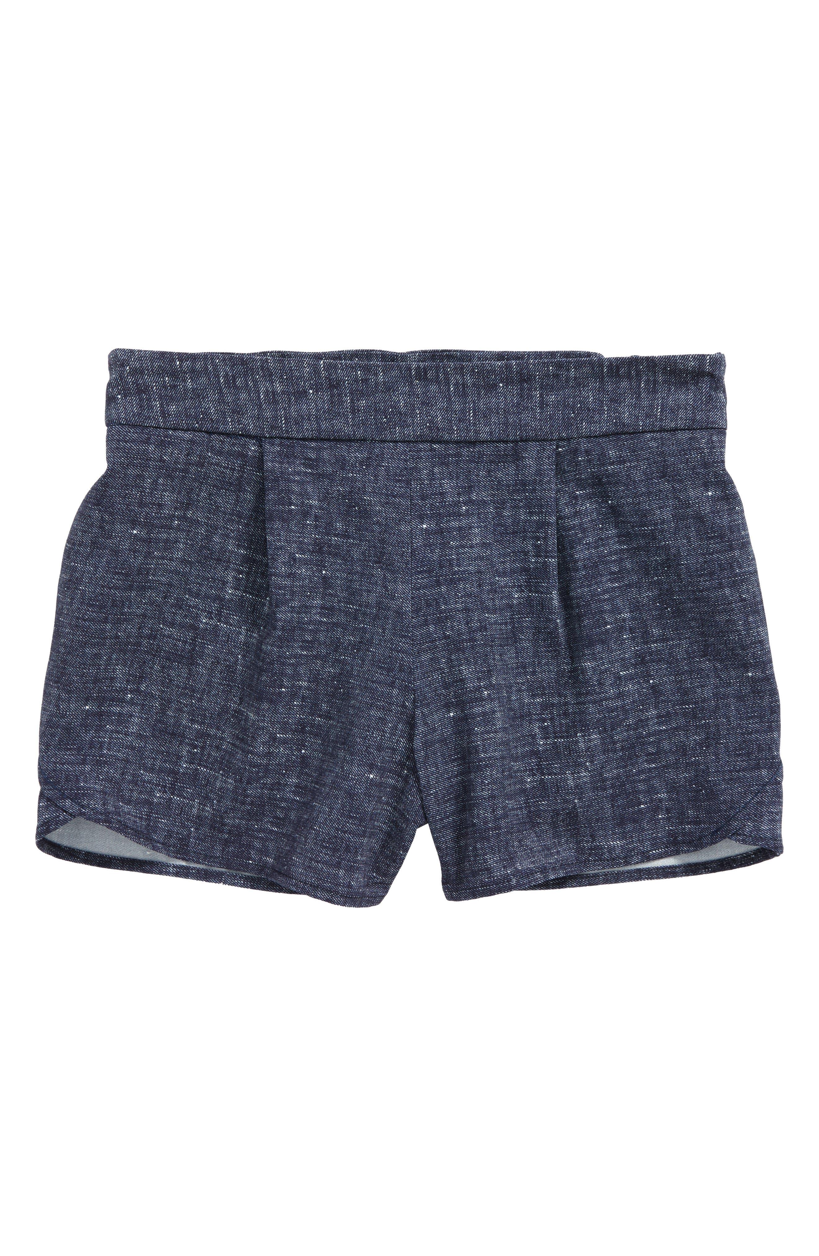 Petal Shorts,                             Main thumbnail 1, color,                             Blue Multi