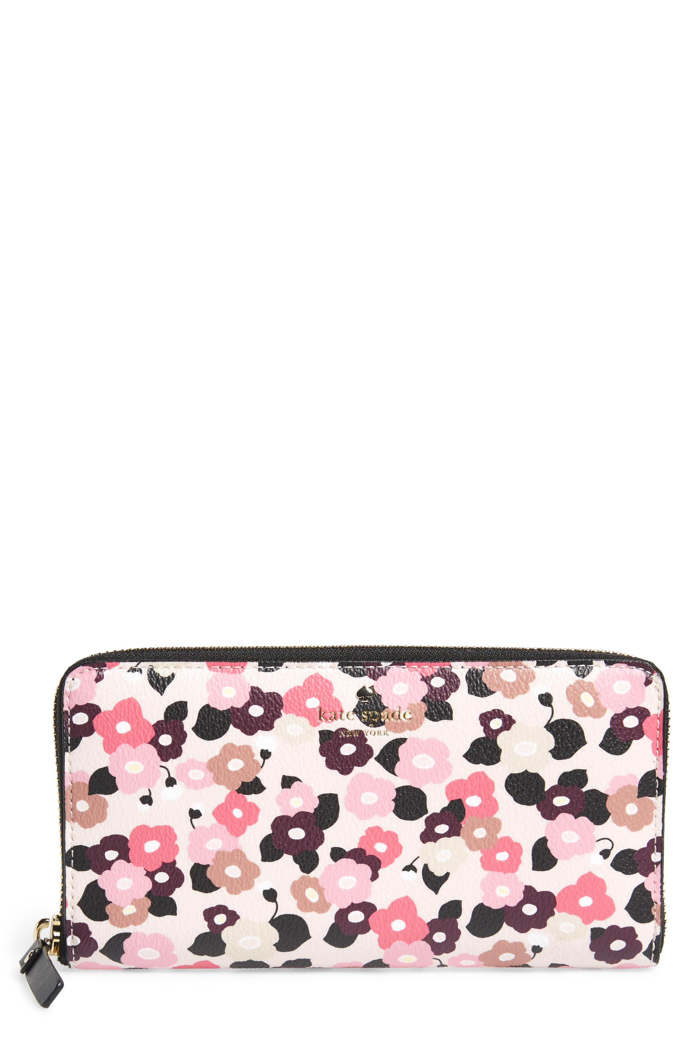 Main Image - kate spade new york hyde lane michele floral faux leather wallet
