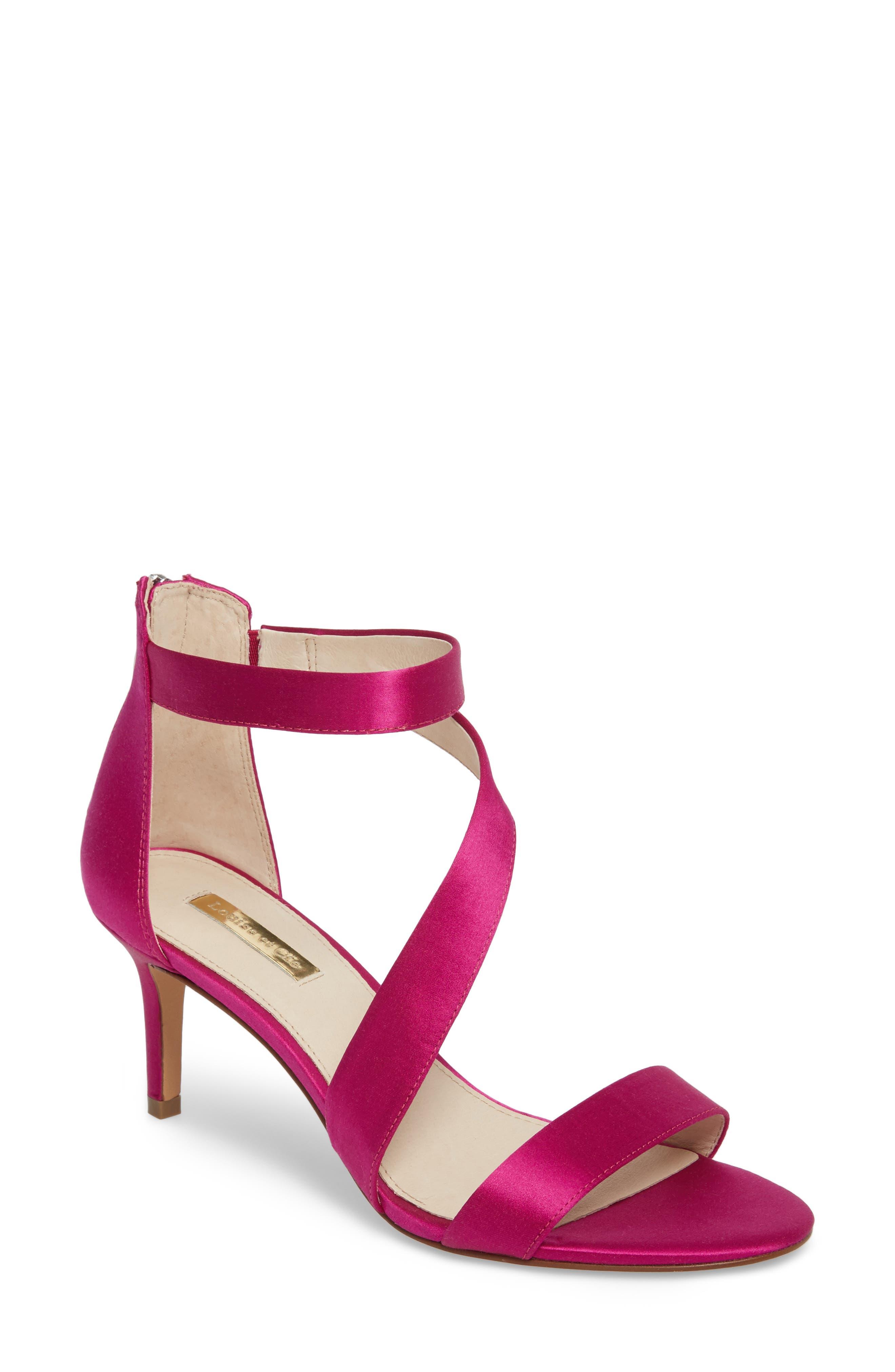 Hilio Sandal,                             Main thumbnail 1, color,                             Electric Pink Satin