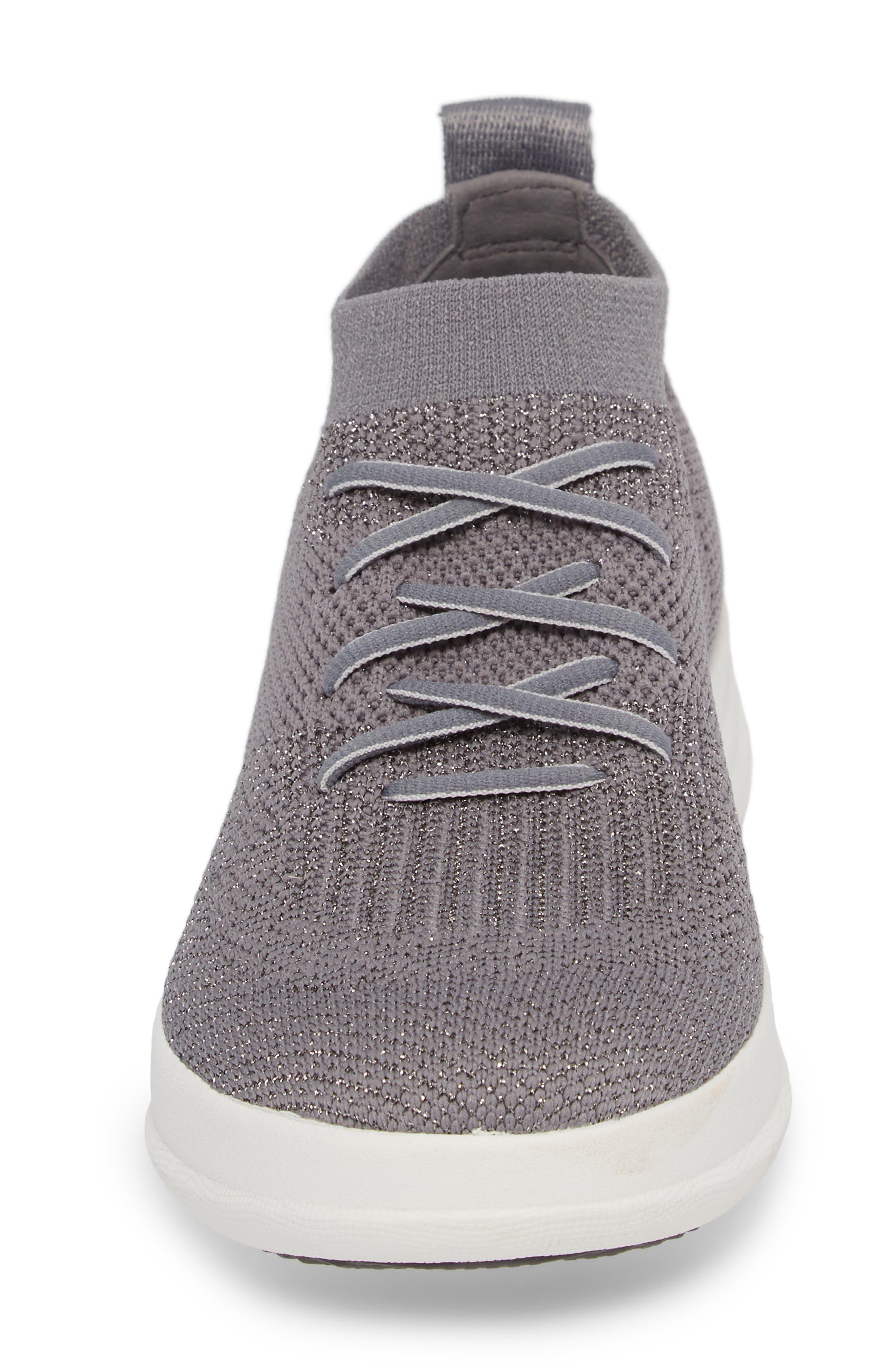 Uberknit<sup>™</sup> Slip-On High-Top Sneaker,                             Alternate thumbnail 4, color,                             Charcoal/ Metallic Pewter