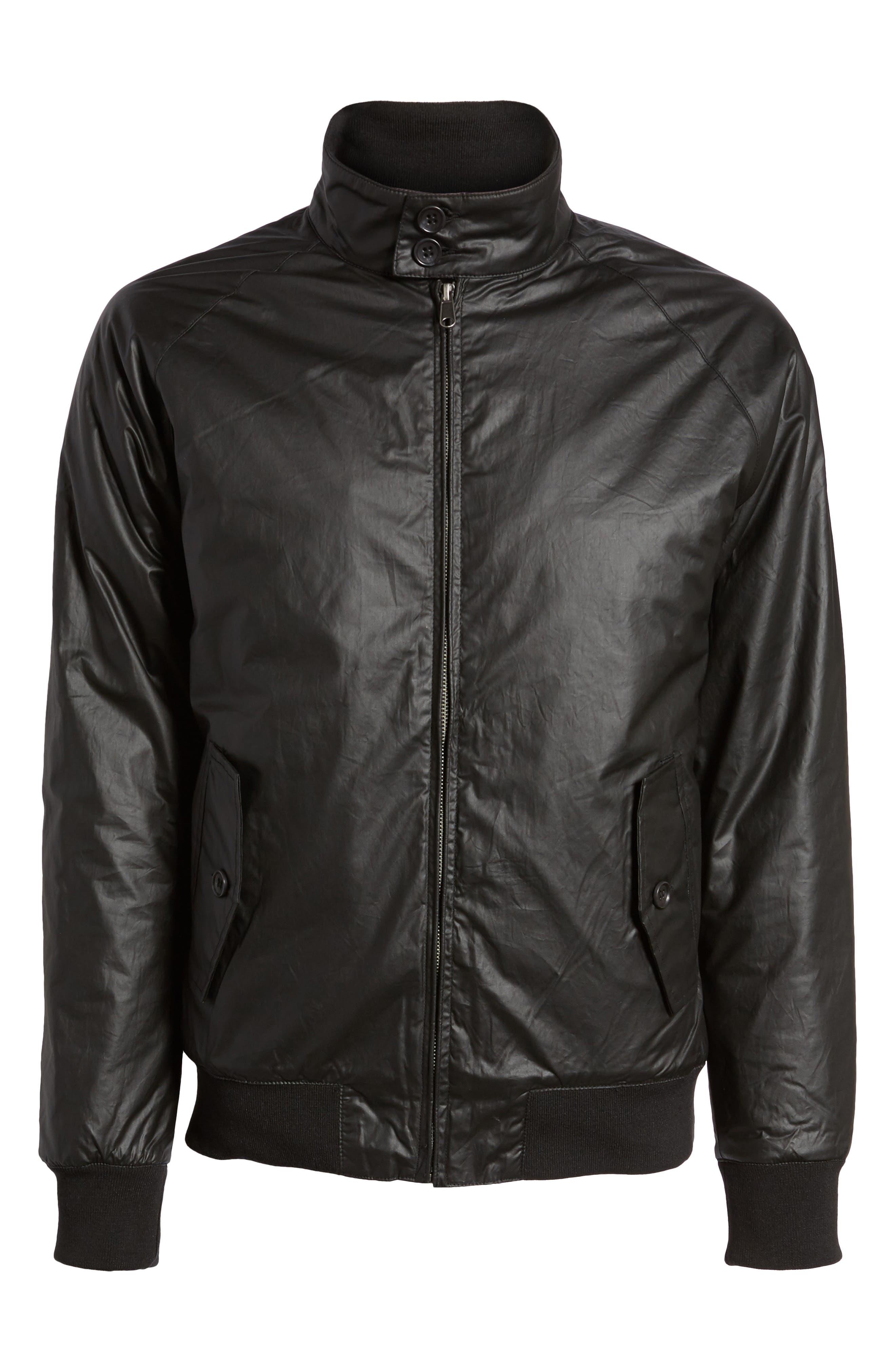 Insulated Harrington Jacket,                             Alternate thumbnail 6, color,                             Black