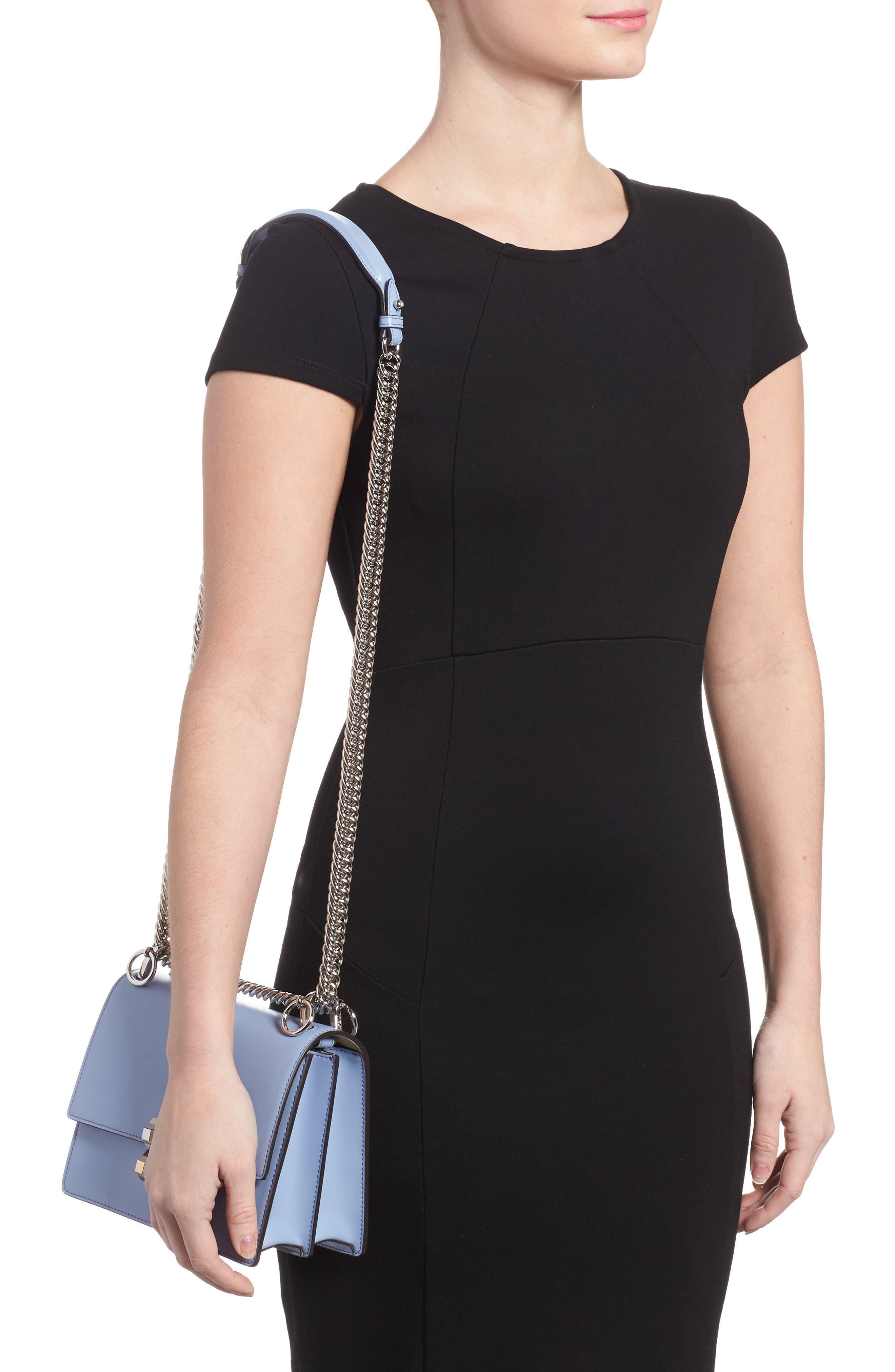 Mini Kan I Leather Shoulder Bag,                             Alternate thumbnail 2, color,                             Sky