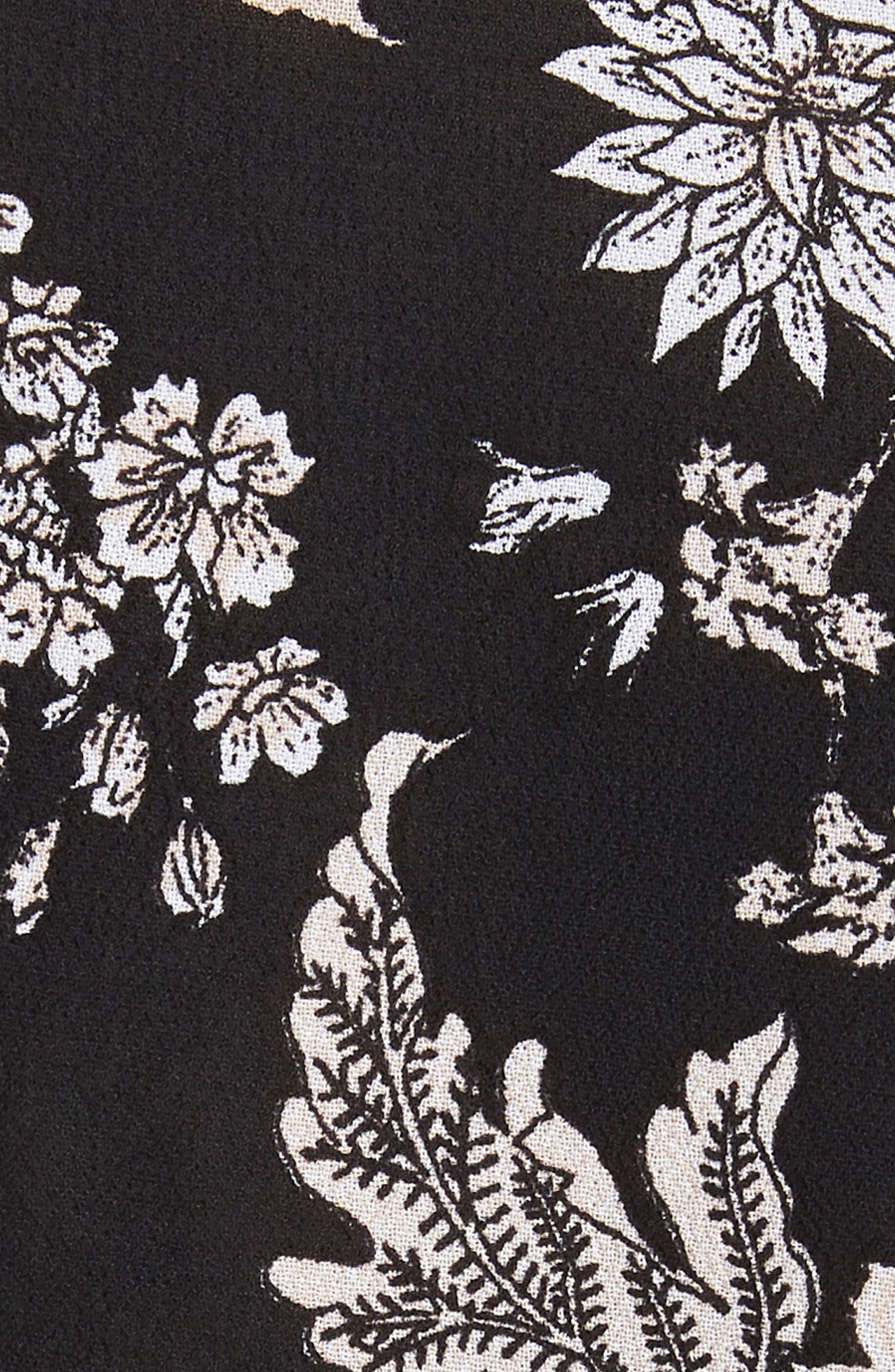 Lula Wrap Top,                             Alternate thumbnail 5, color,                             Noir Bouquet