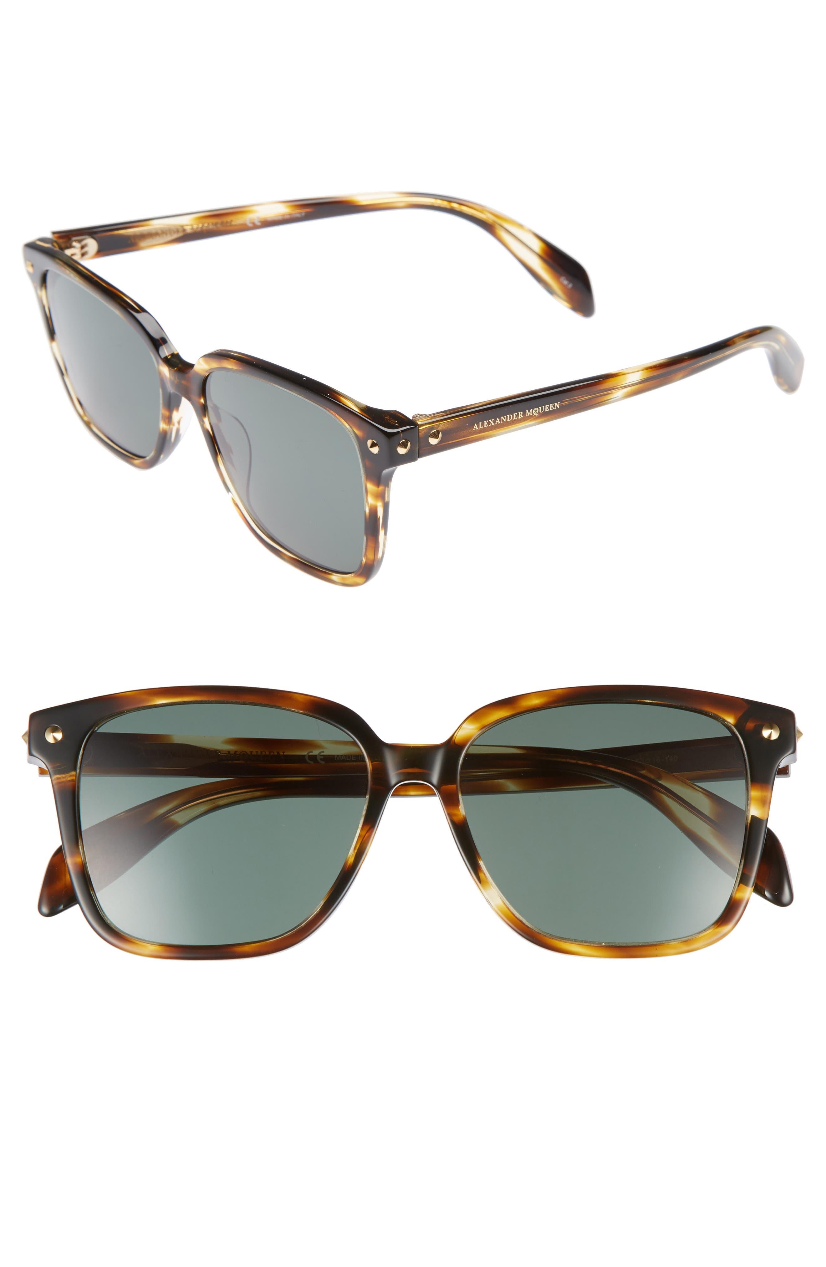 Alternate Image 1 Selected - Alexander McQueen 53mm Square Sunglasses