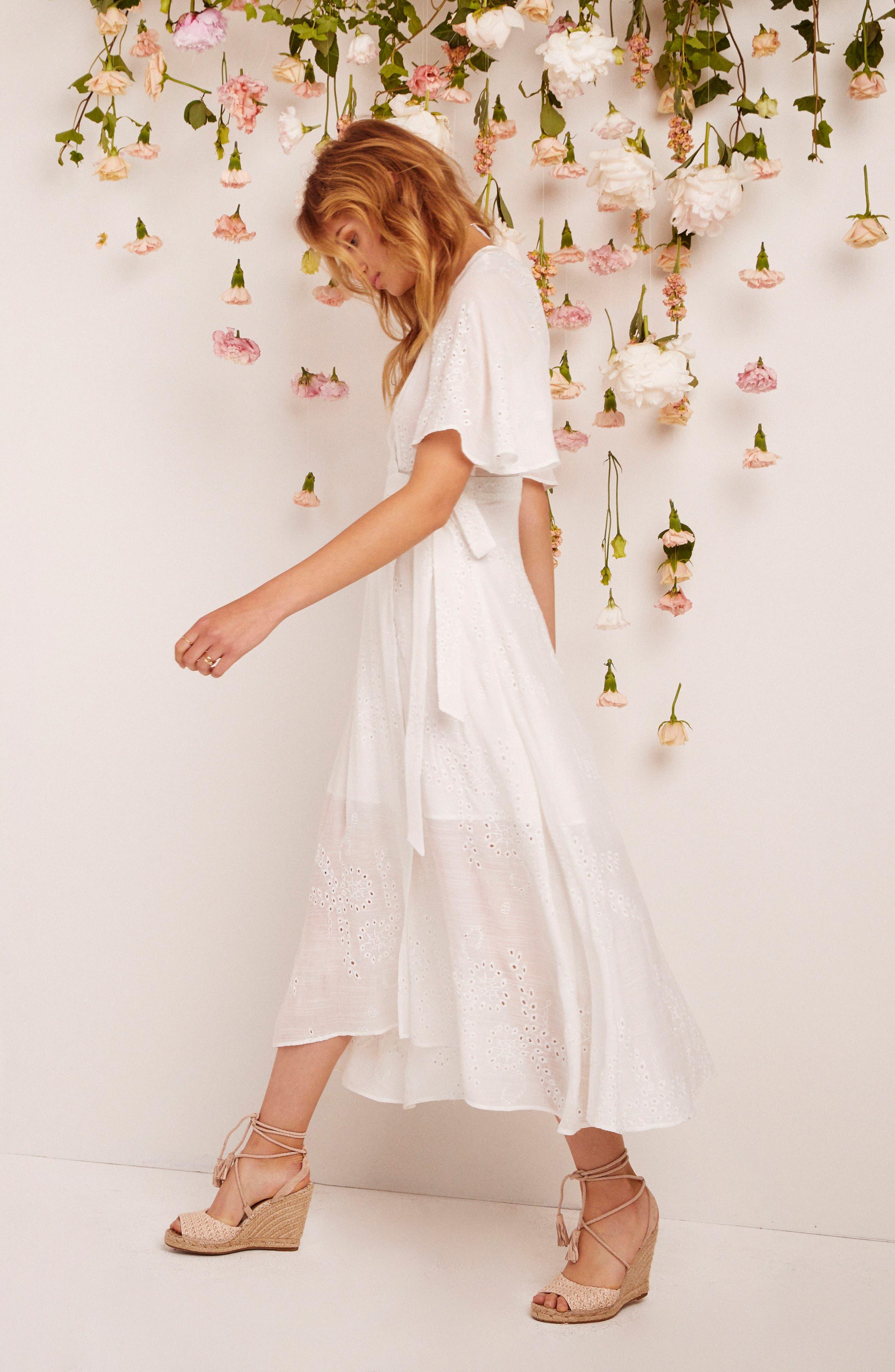 Alternate Image 4  - ASTR the Label Gretchen Eyelet Wrap Dress