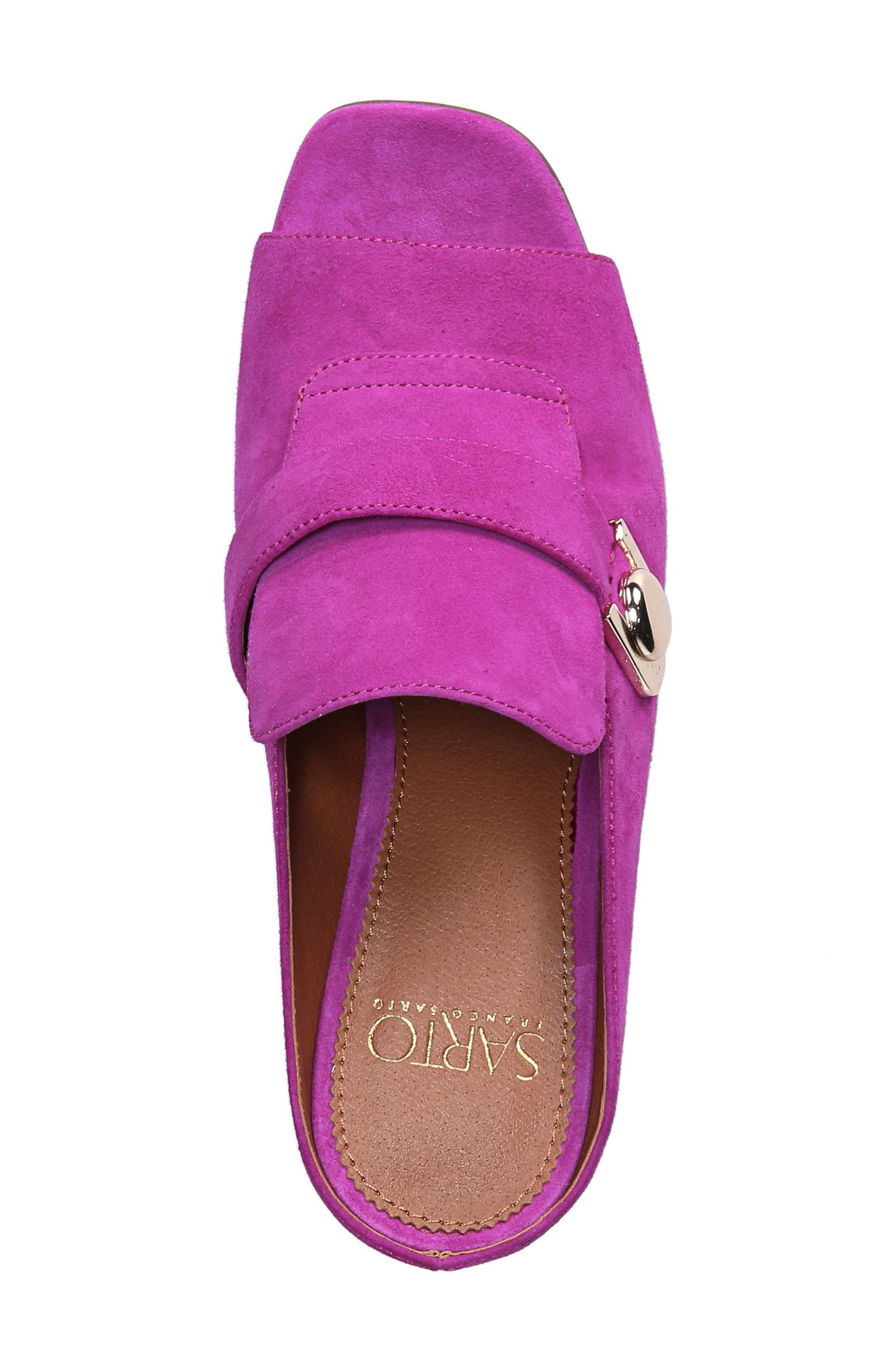 Rosalie Block Heel Sandal,                             Alternate thumbnail 5, color,                             Wild Violet Suede