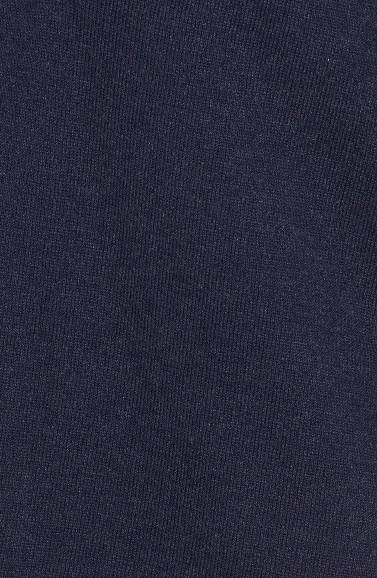 Hooded Organic Cotton Box Sweater,                             Alternate thumbnail 5, color,                             Midnight