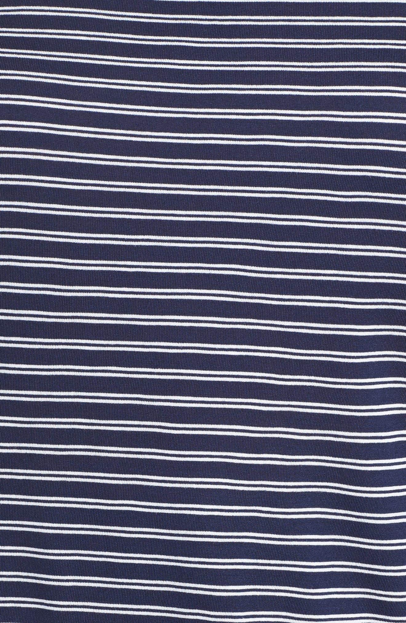 Stripe Cross Back Tee,                             Alternate thumbnail 5, color,                             Navy- White Cori Stripe