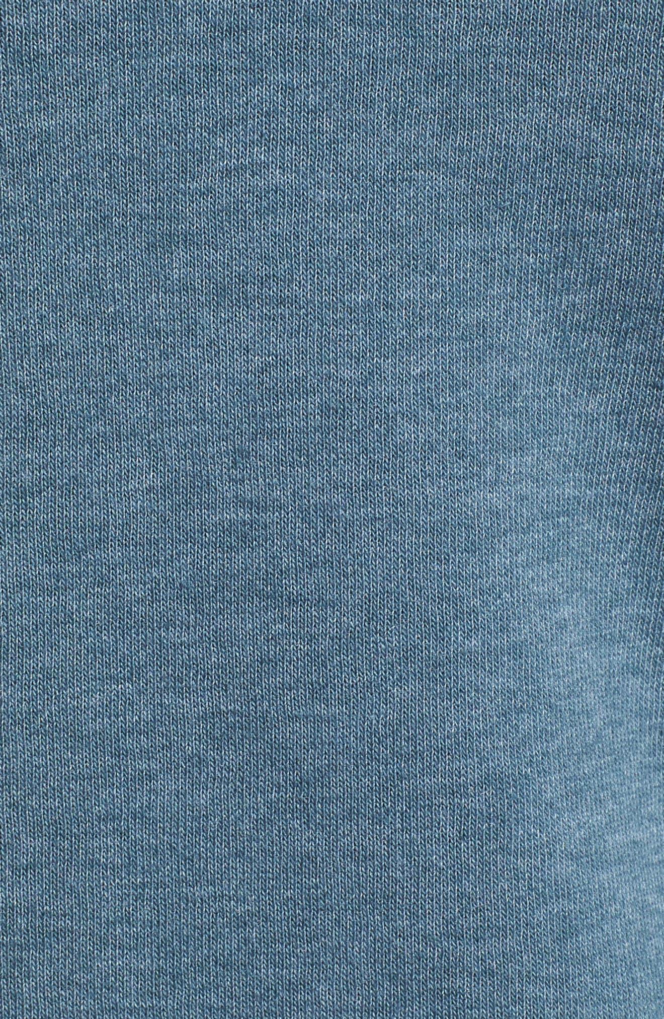 Half Dome Cotton Blend Hoodie,                             Alternate thumbnail 5, color,                             Conquer Blue / Monument Grey