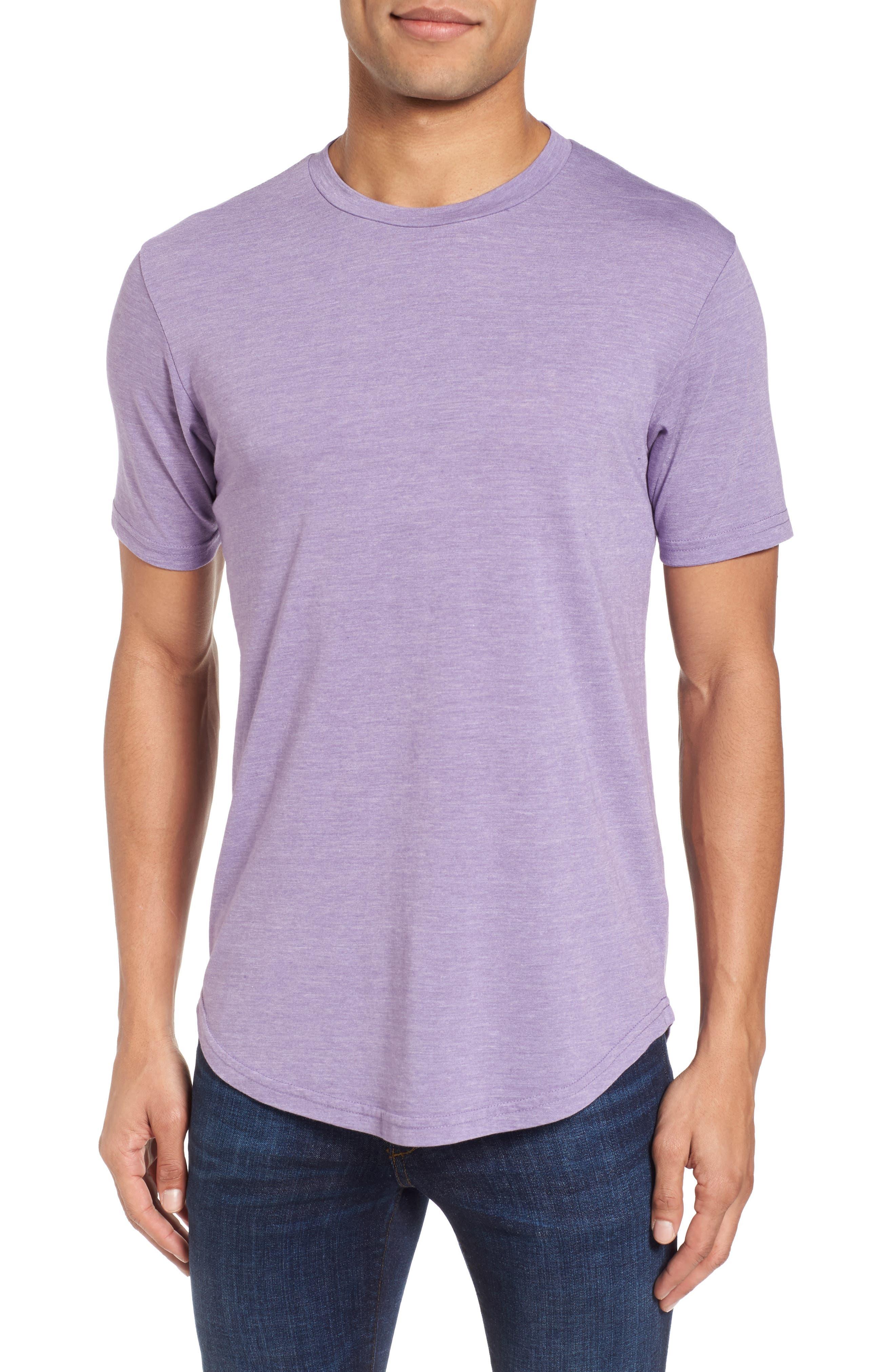 Scallop Triblend Crewneck T-Shirt,                             Main thumbnail 1, color,                             Purple Haze