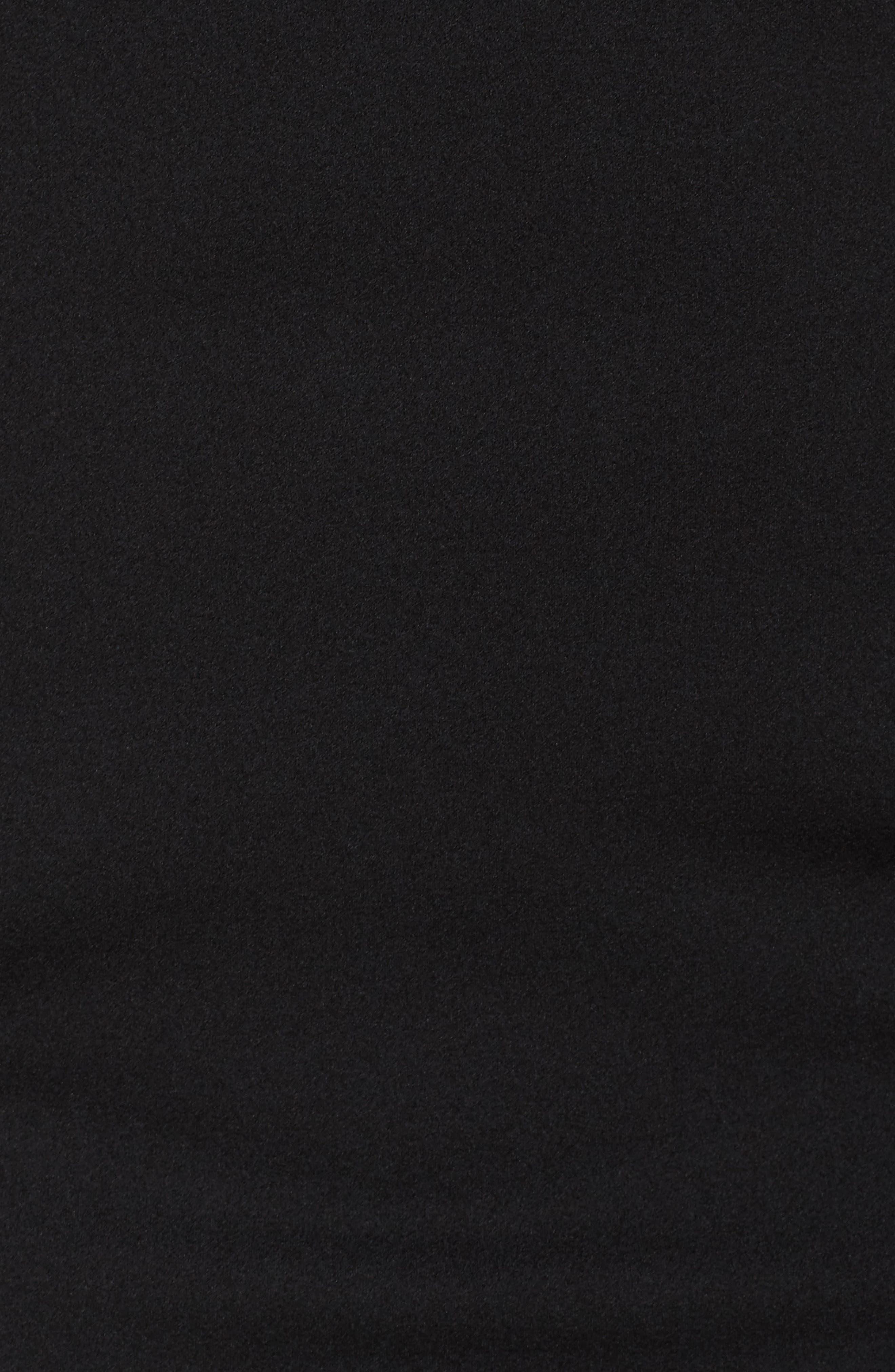 Cape Sheath Dress,                             Alternate thumbnail 5, color,                             Black