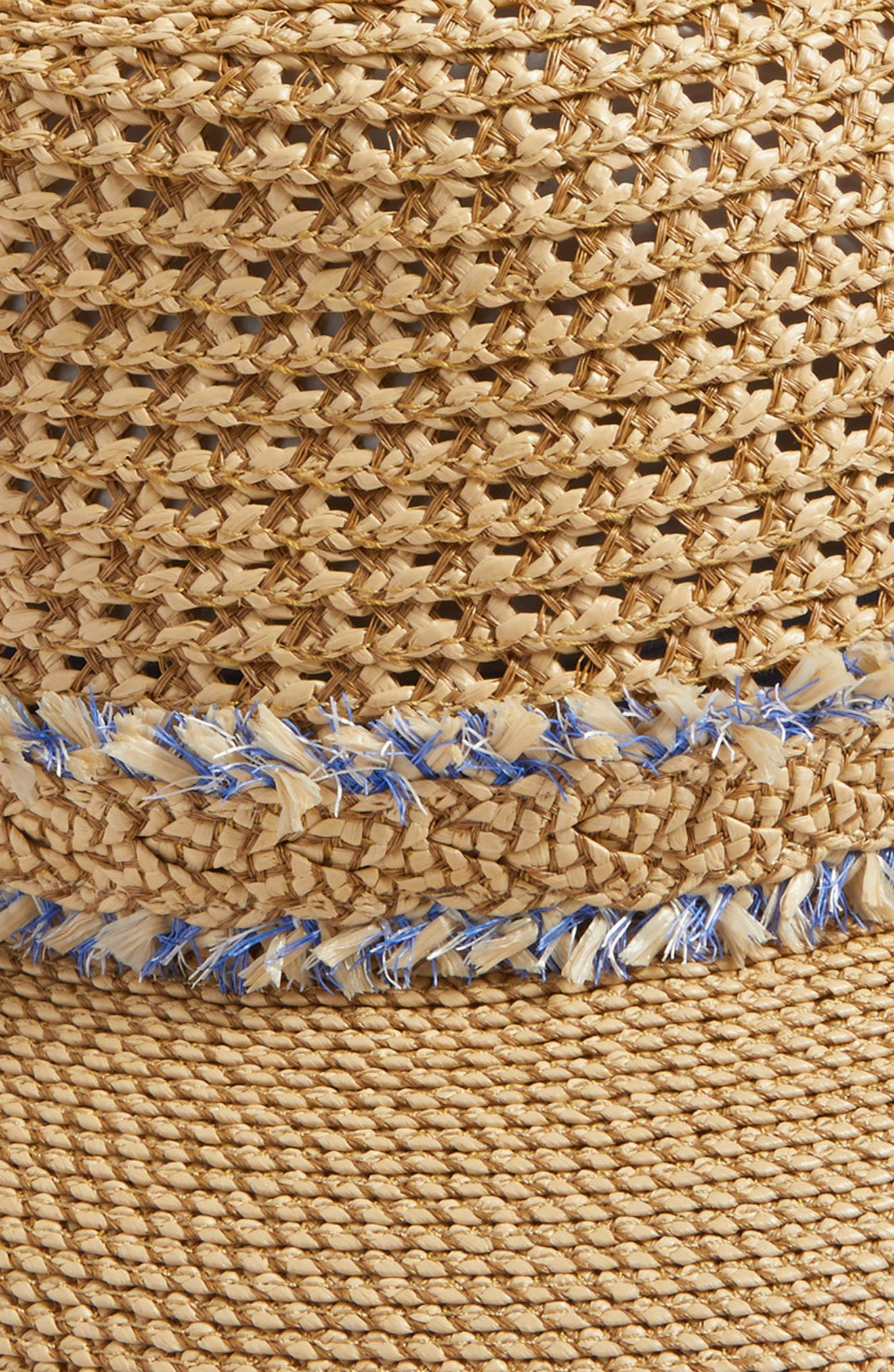 Lulu Squishee<sup>®</sup> Straw Hat,                             Alternate thumbnail 3, color,                             Peanut Mix