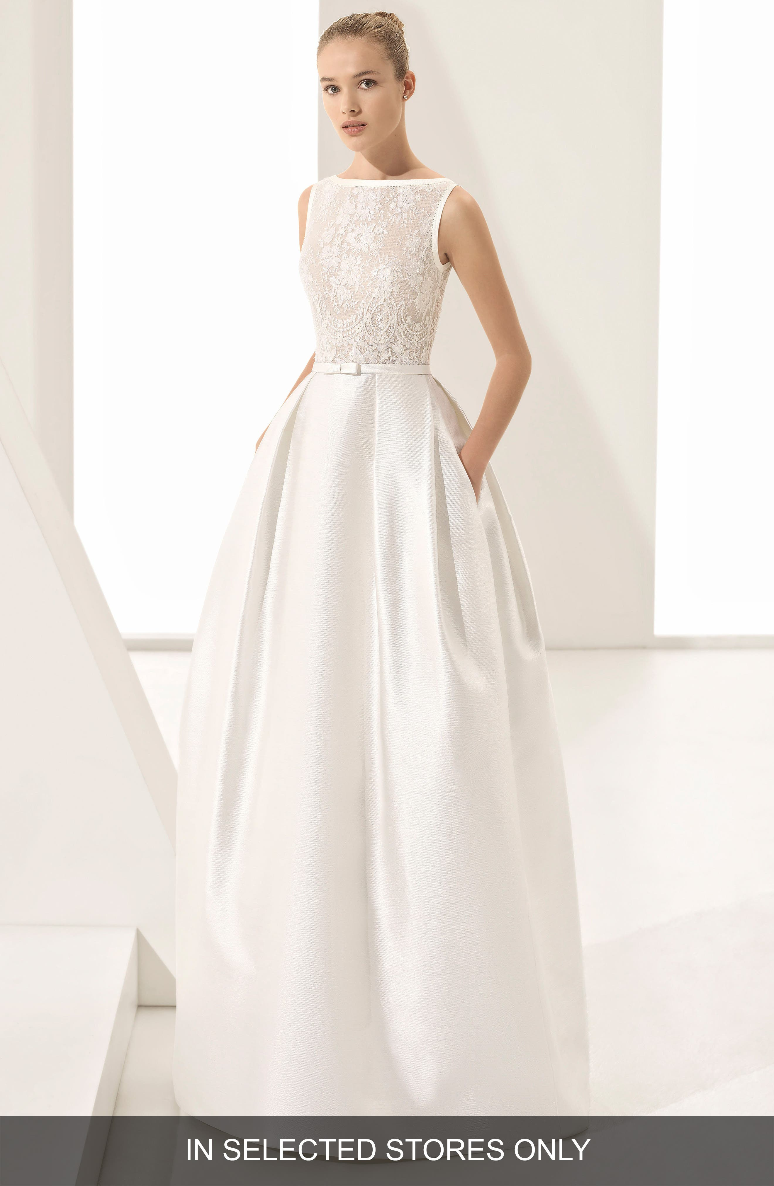 Parker Silk Blend Ballgown,                         Main,                         color, Natural/ Nude
