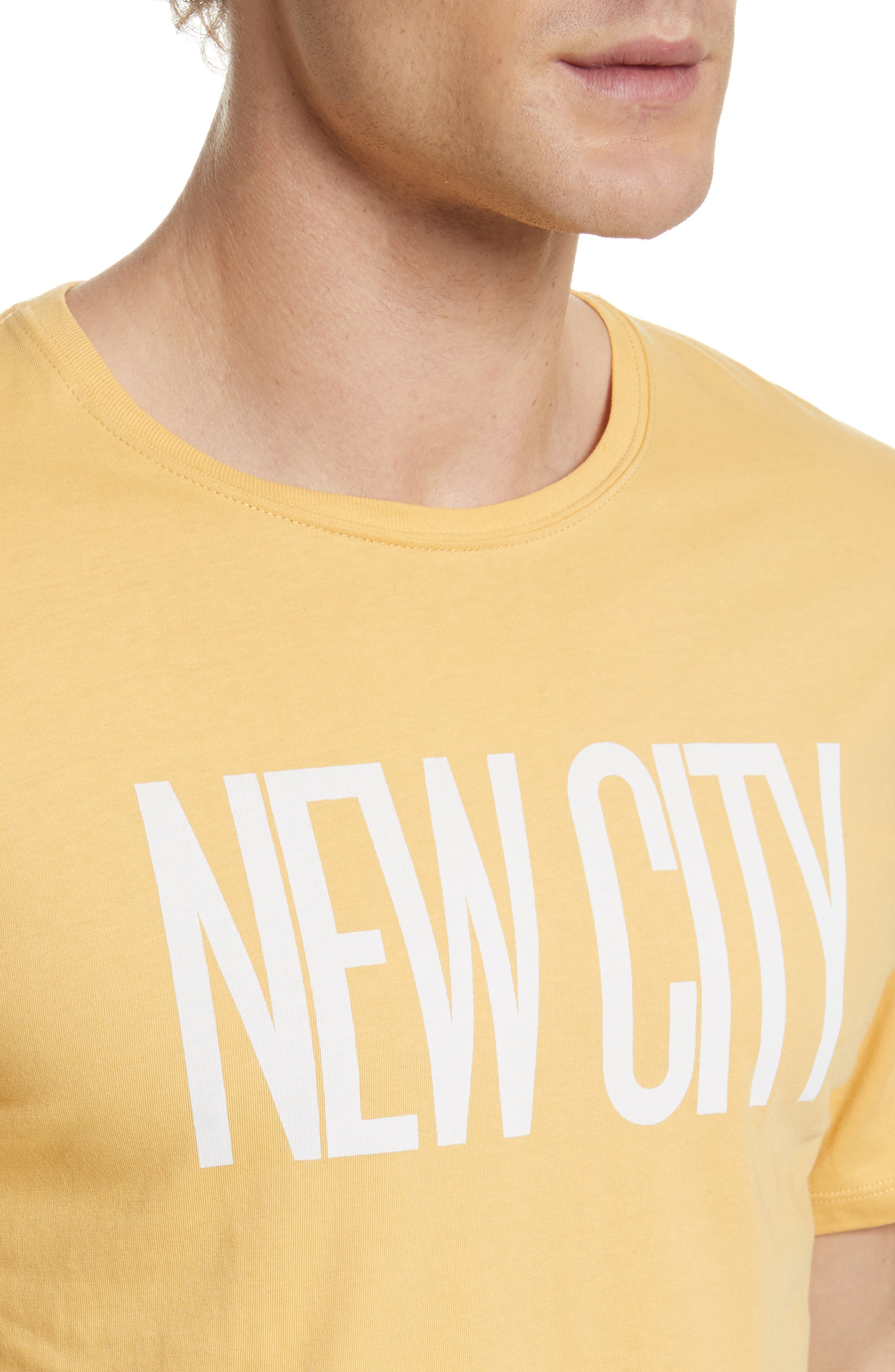 New City Graphic T-Shirt,                             Alternate thumbnail 4, color,                             Dusty Amber
