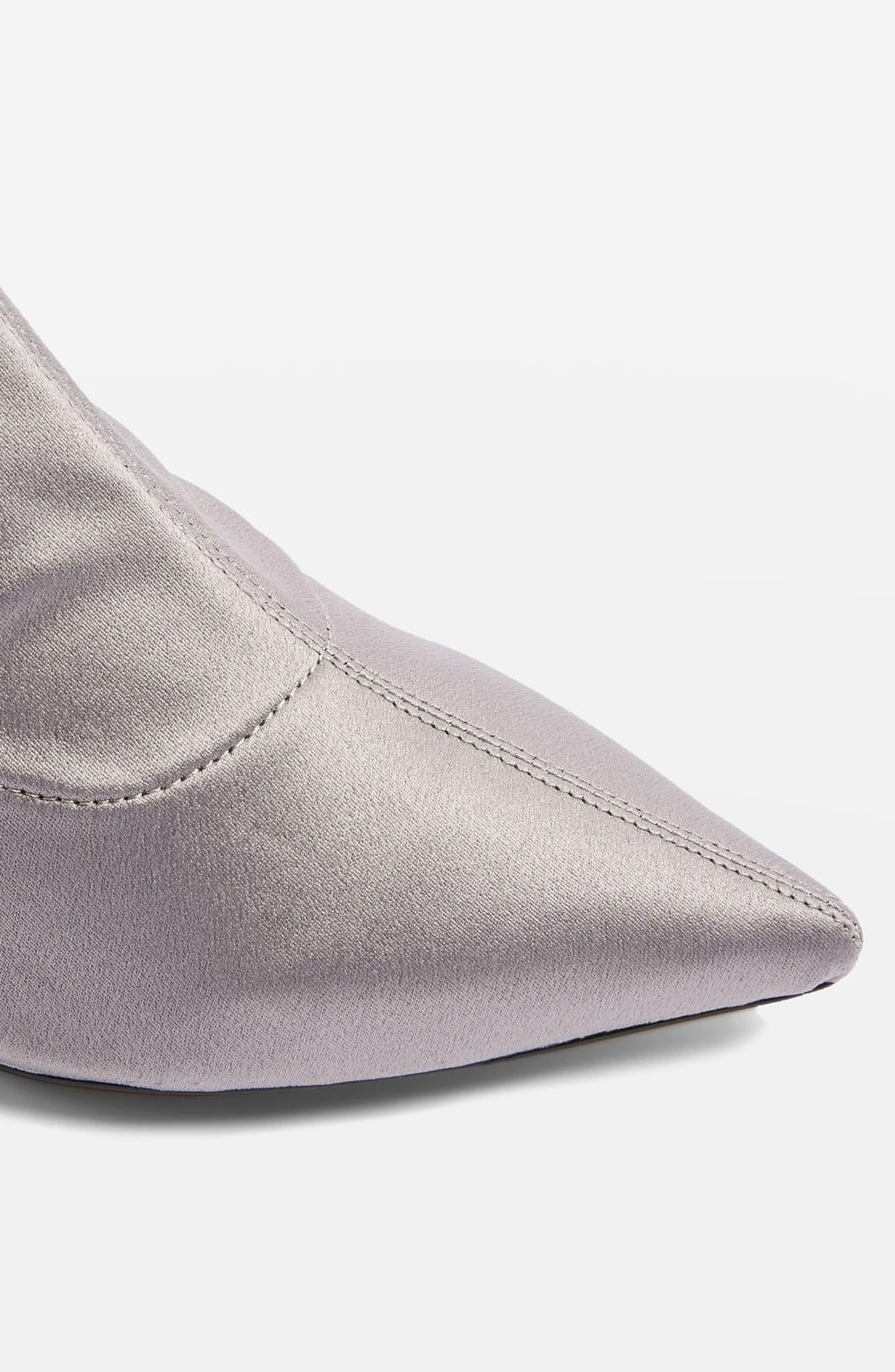 Bon Bon Satin Sock Bootie,                             Alternate thumbnail 3, color,                             Grey