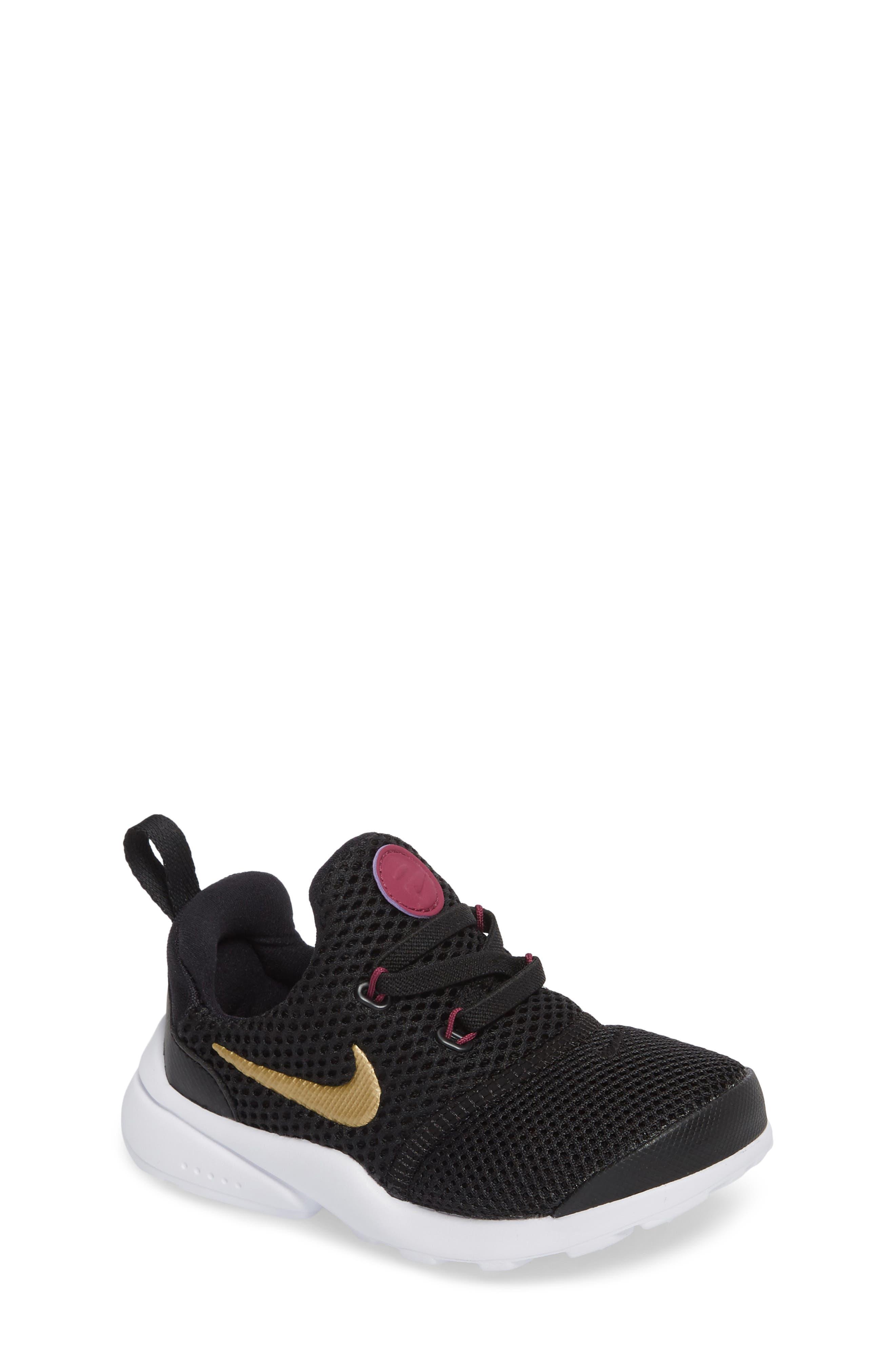 Presto Fly Sneaker,                             Main thumbnail 1, color,                             Black/ Gold