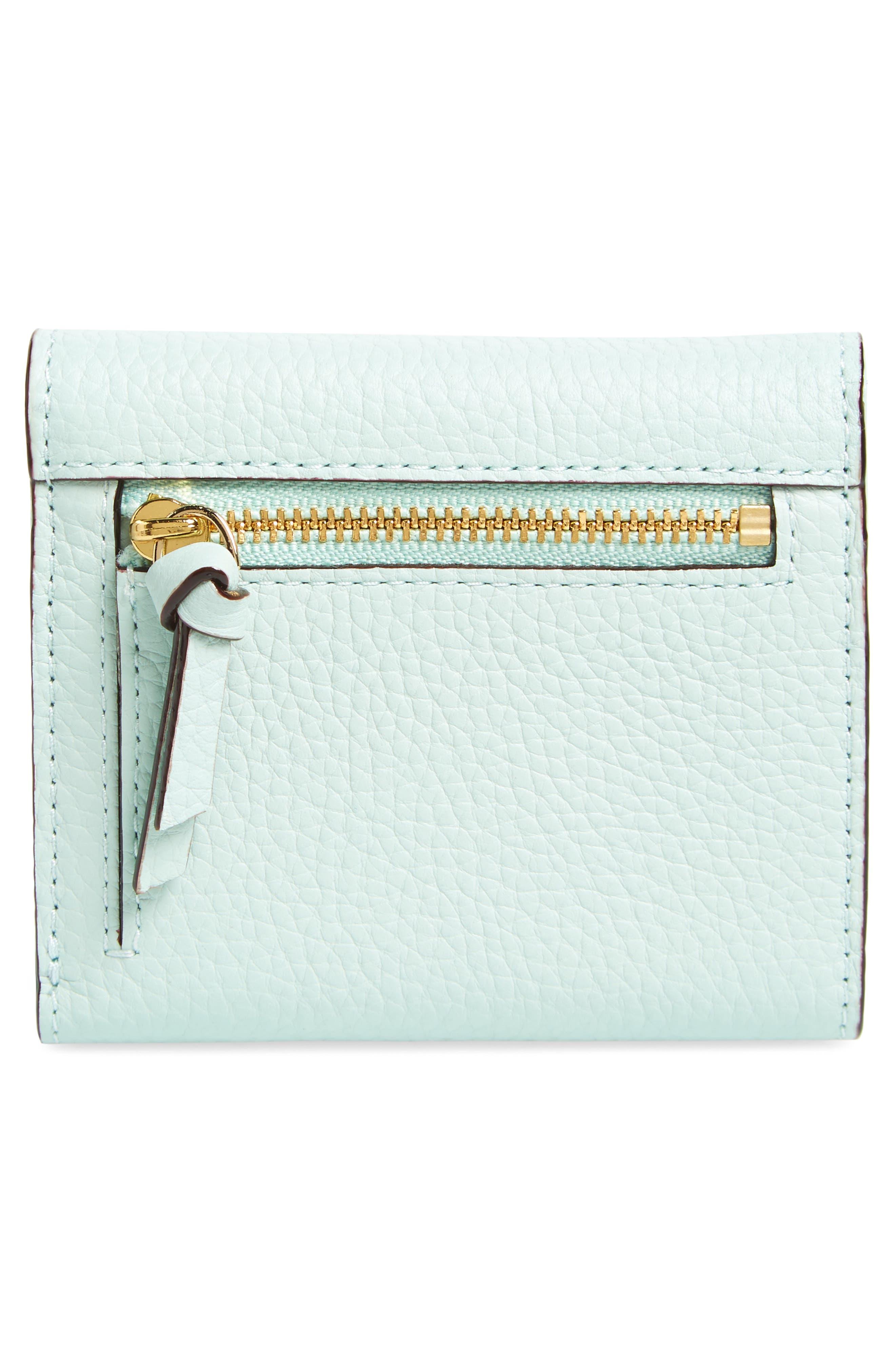 jackson street jada leather wallet,                             Alternate thumbnail 3, color,                             Misty Mint