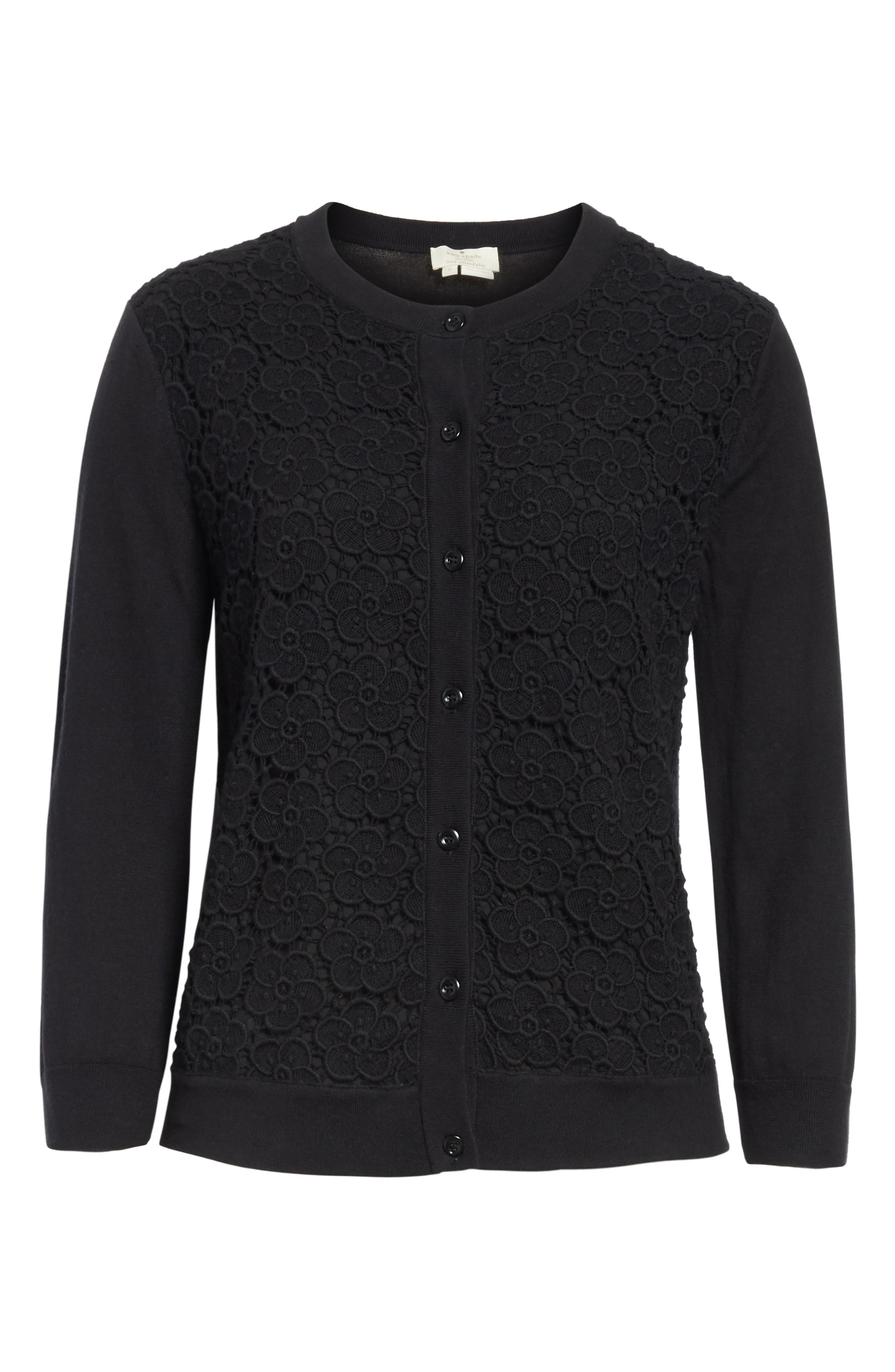 Alternate Image 6  - kate spade new york bloom floral lace cardigan