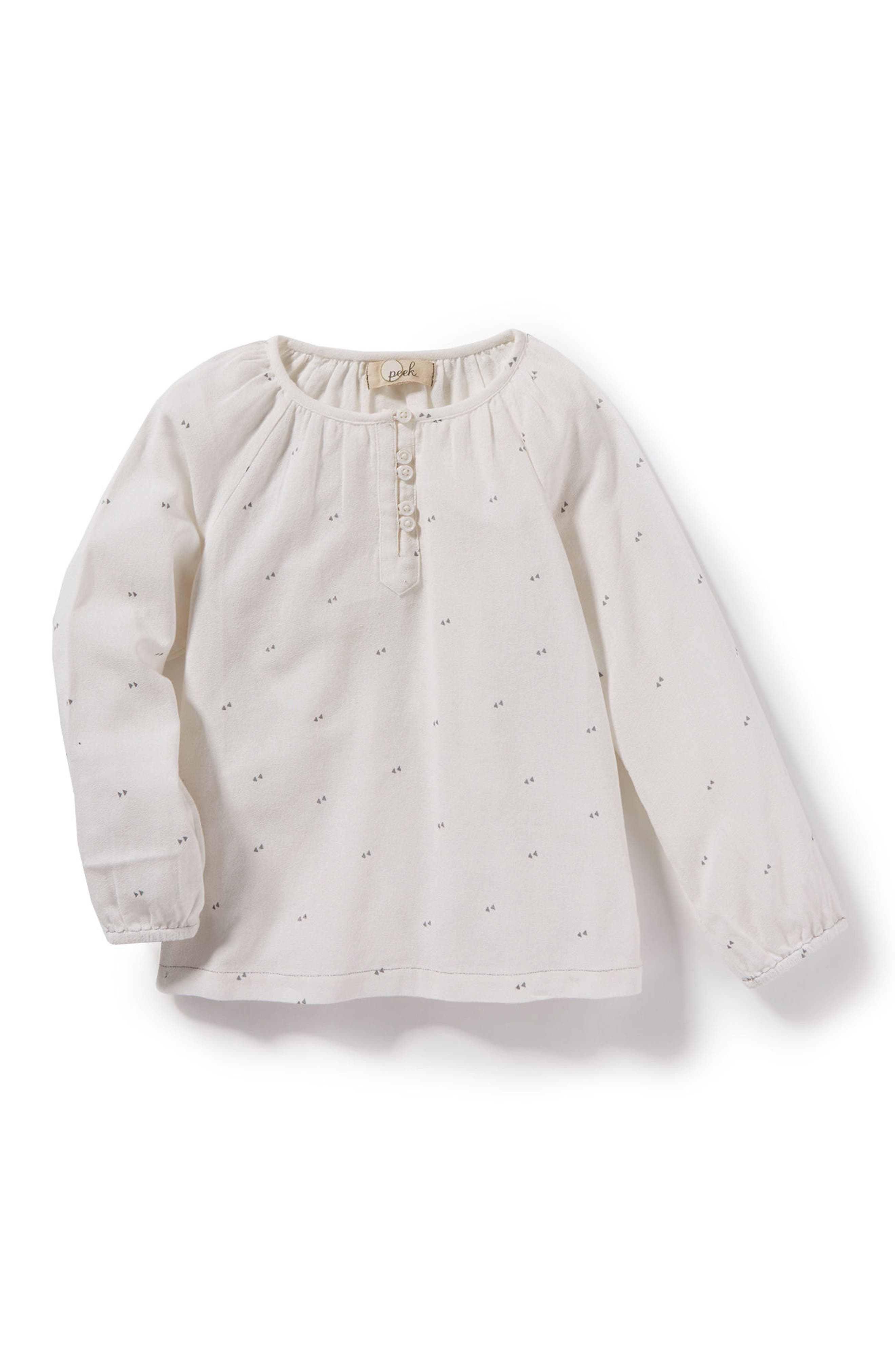 Brook Woven Henley Top,                         Main,                         color, Ivory