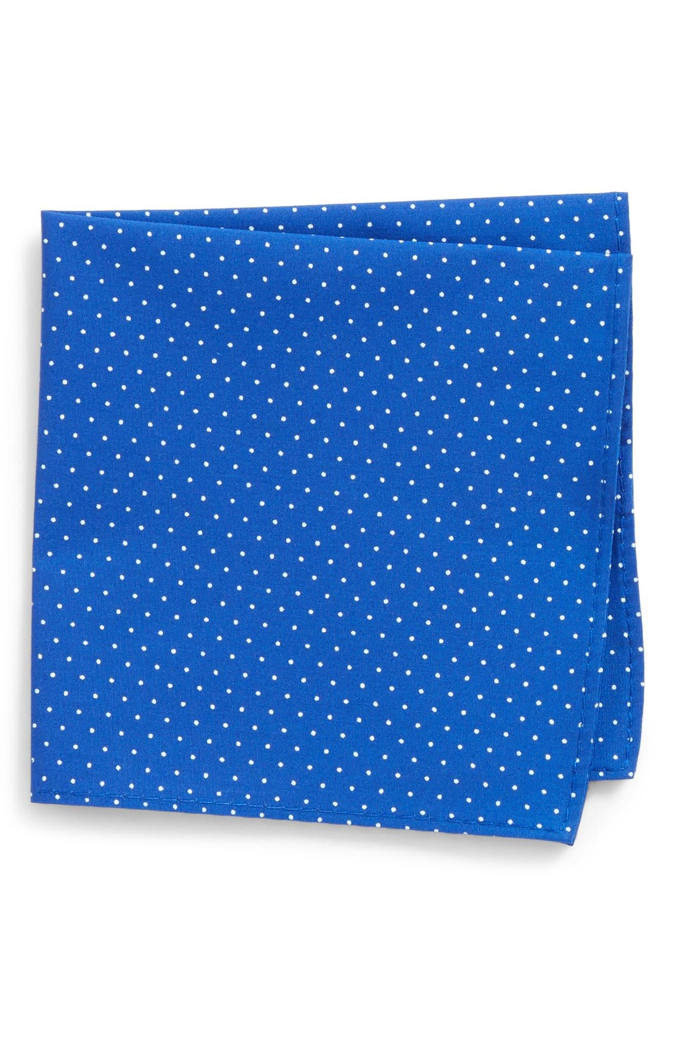 Micro Dot Pocket Square,                         Main,                         color, Royal