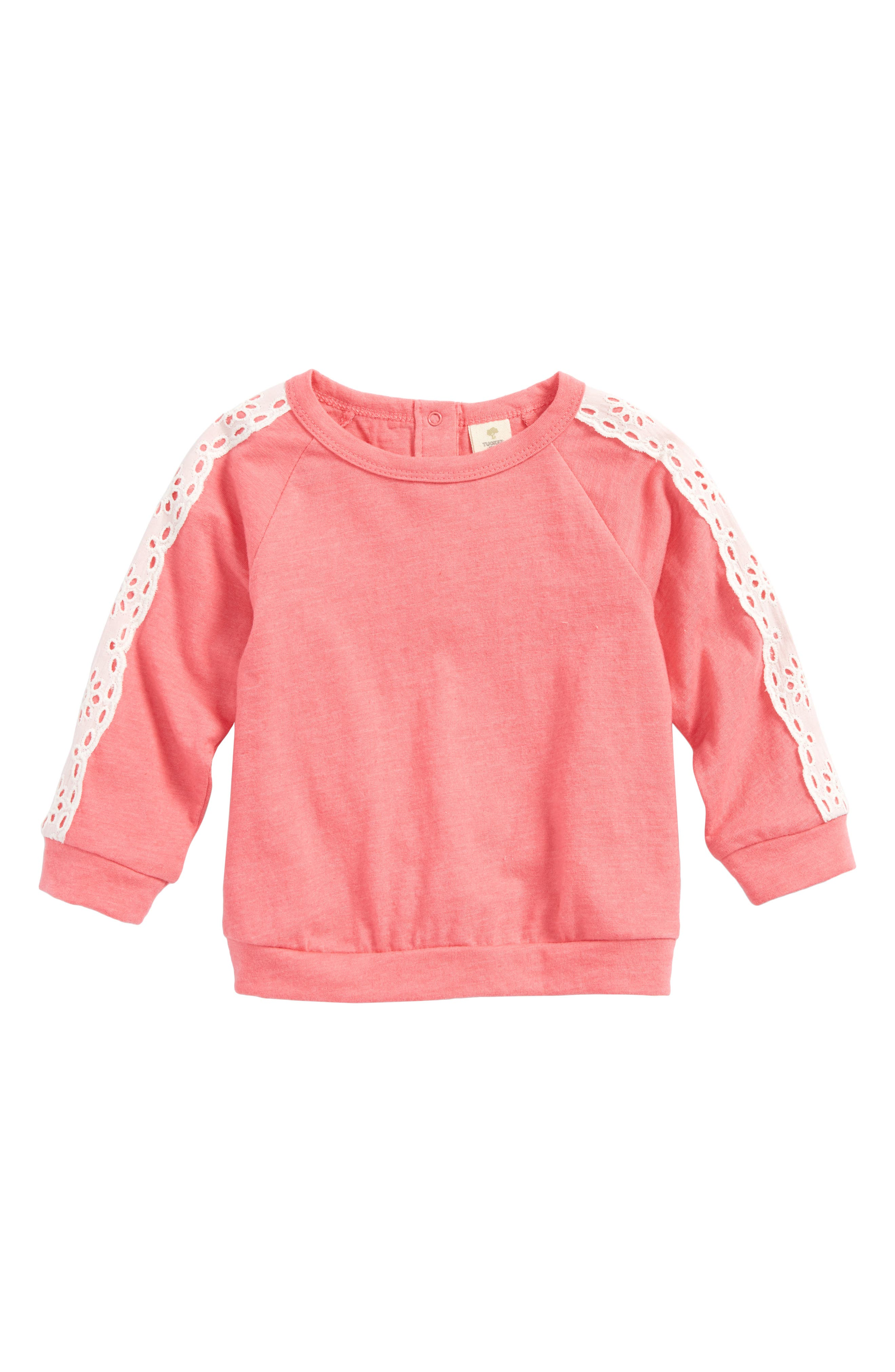 Tucker + Tate Lace Sleeve Top (Baby Girls)