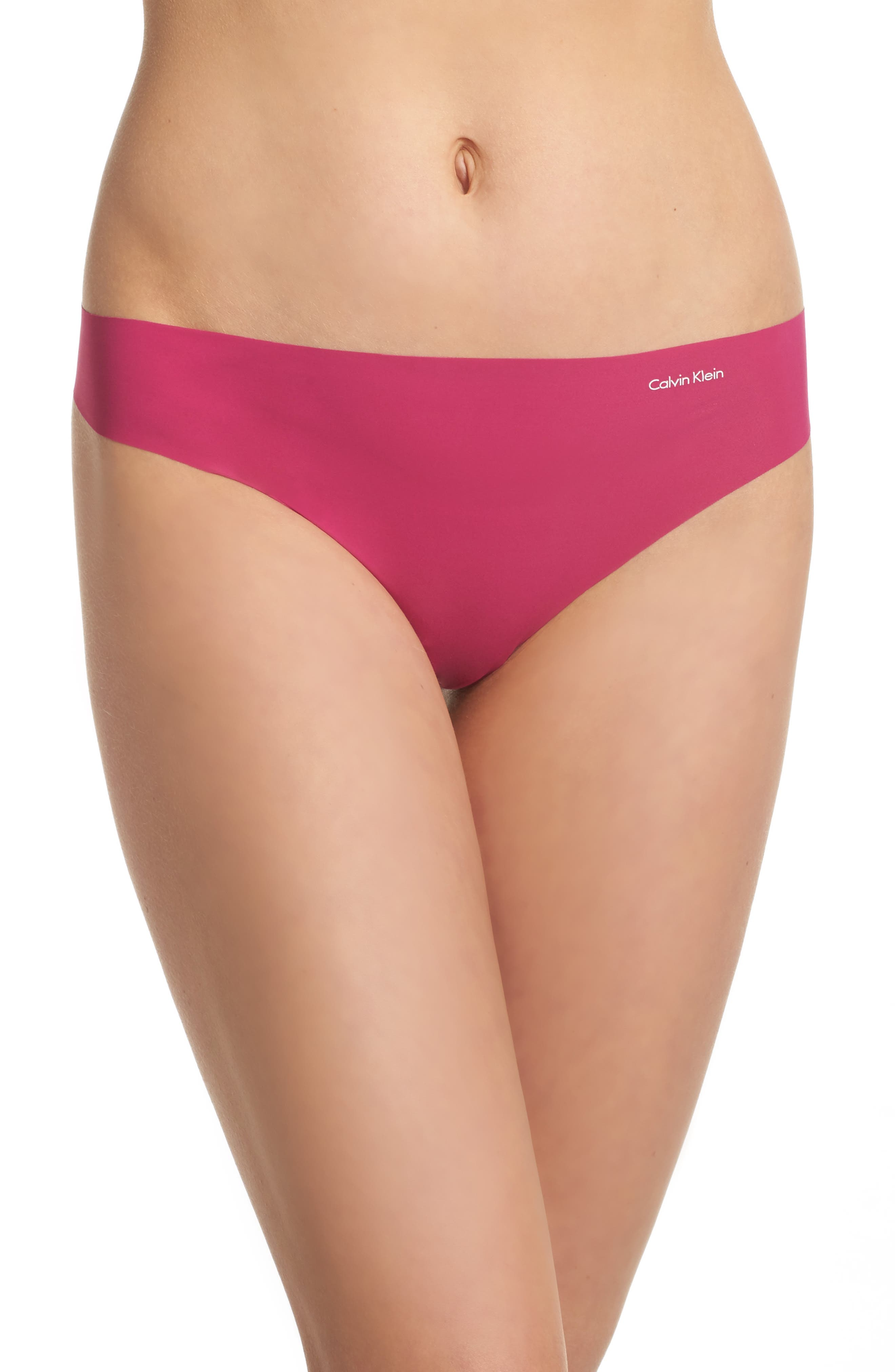 Alternate Image 1 Selected - Calvin Klein 'Invisibles' Thong (3 for $33)