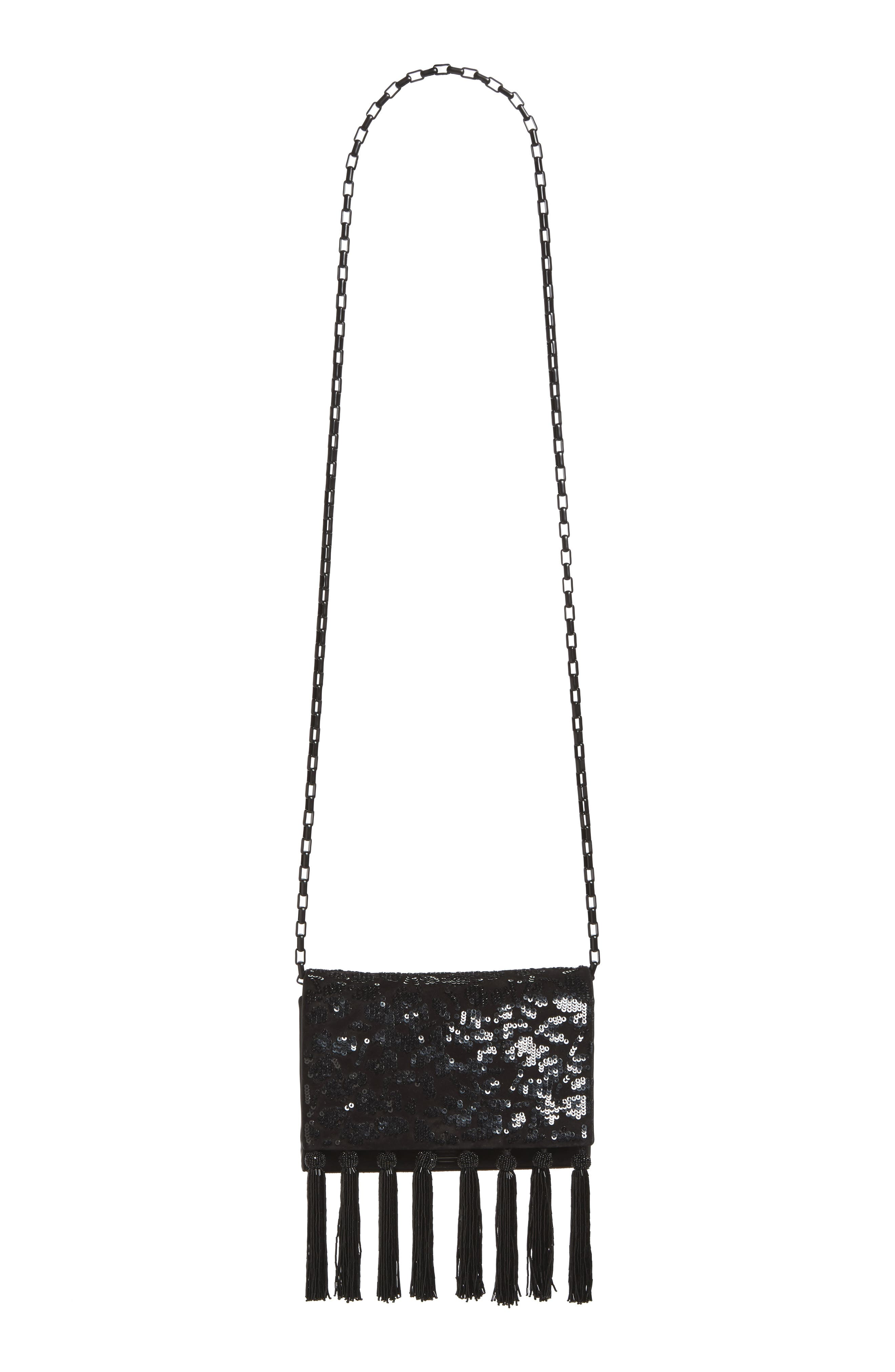 Alternate Image 3  - Michael Kors Yasmeen Sequin & Tassel Suede Clutch