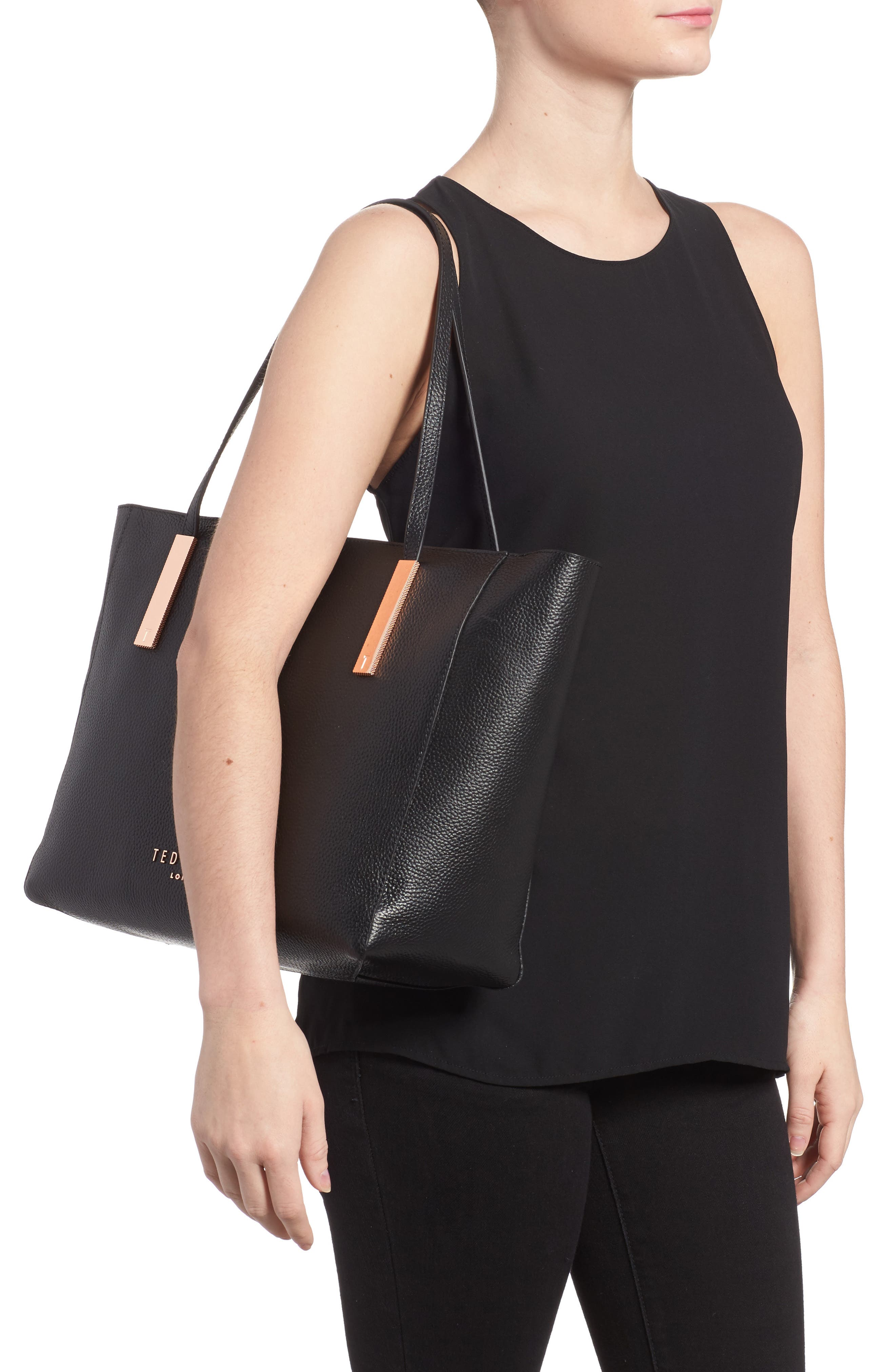 Alternate Image 2  - Ted Baker London Sarahh Leather Shopper