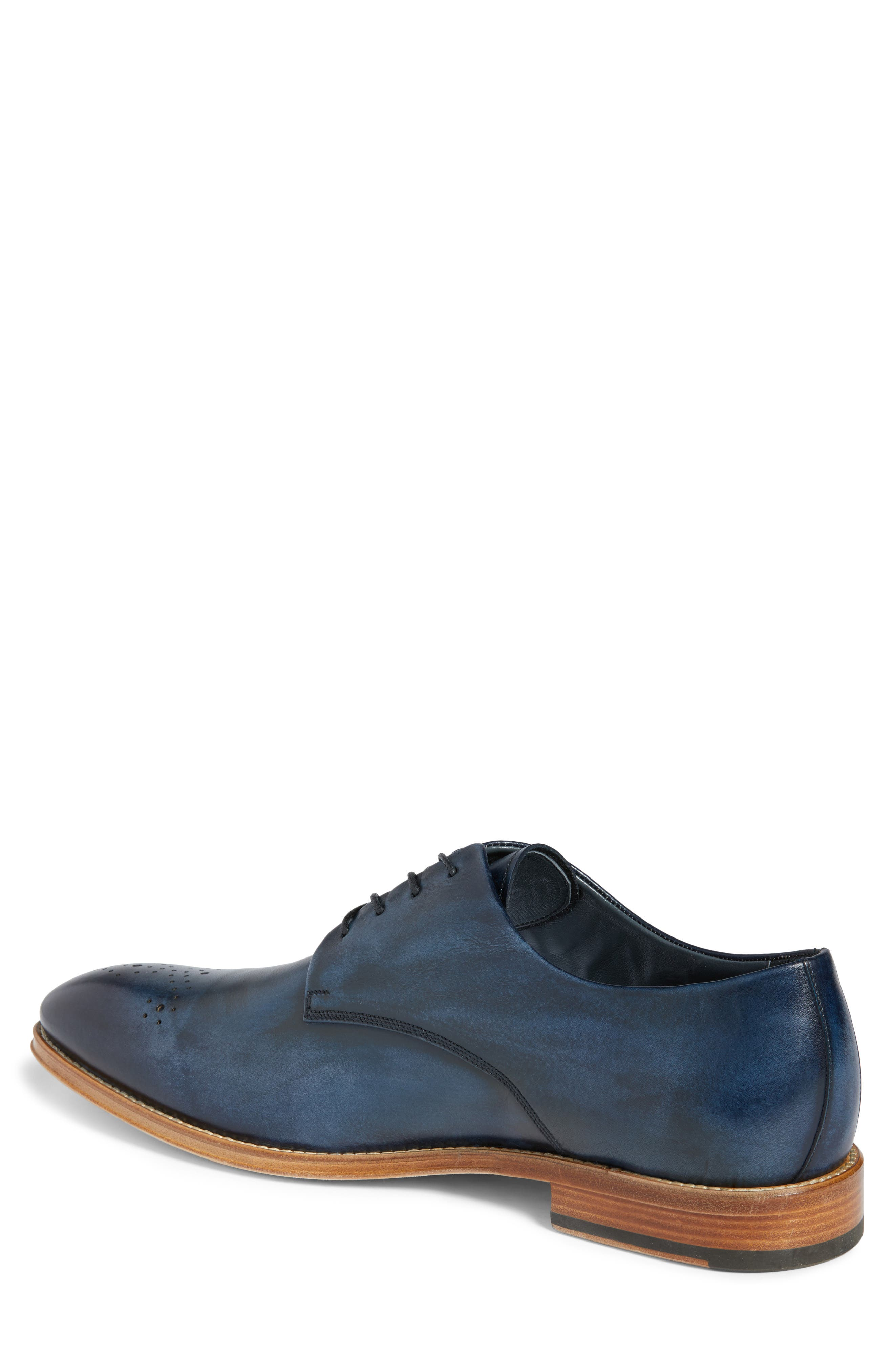 Alessandro Derby,                             Alternate thumbnail 2, color,                             Navy Leather