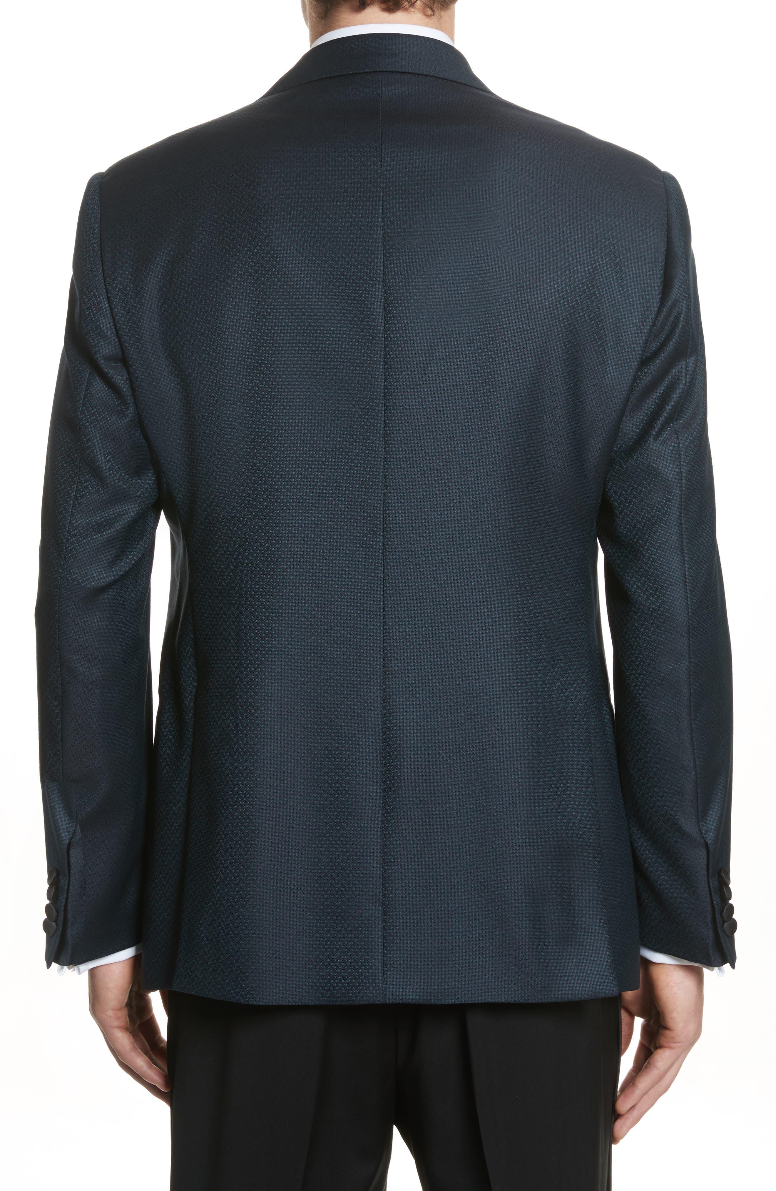 G-Line Trim Fit Wool Dinner Jacket,                             Alternate thumbnail 2, color,                             Blue