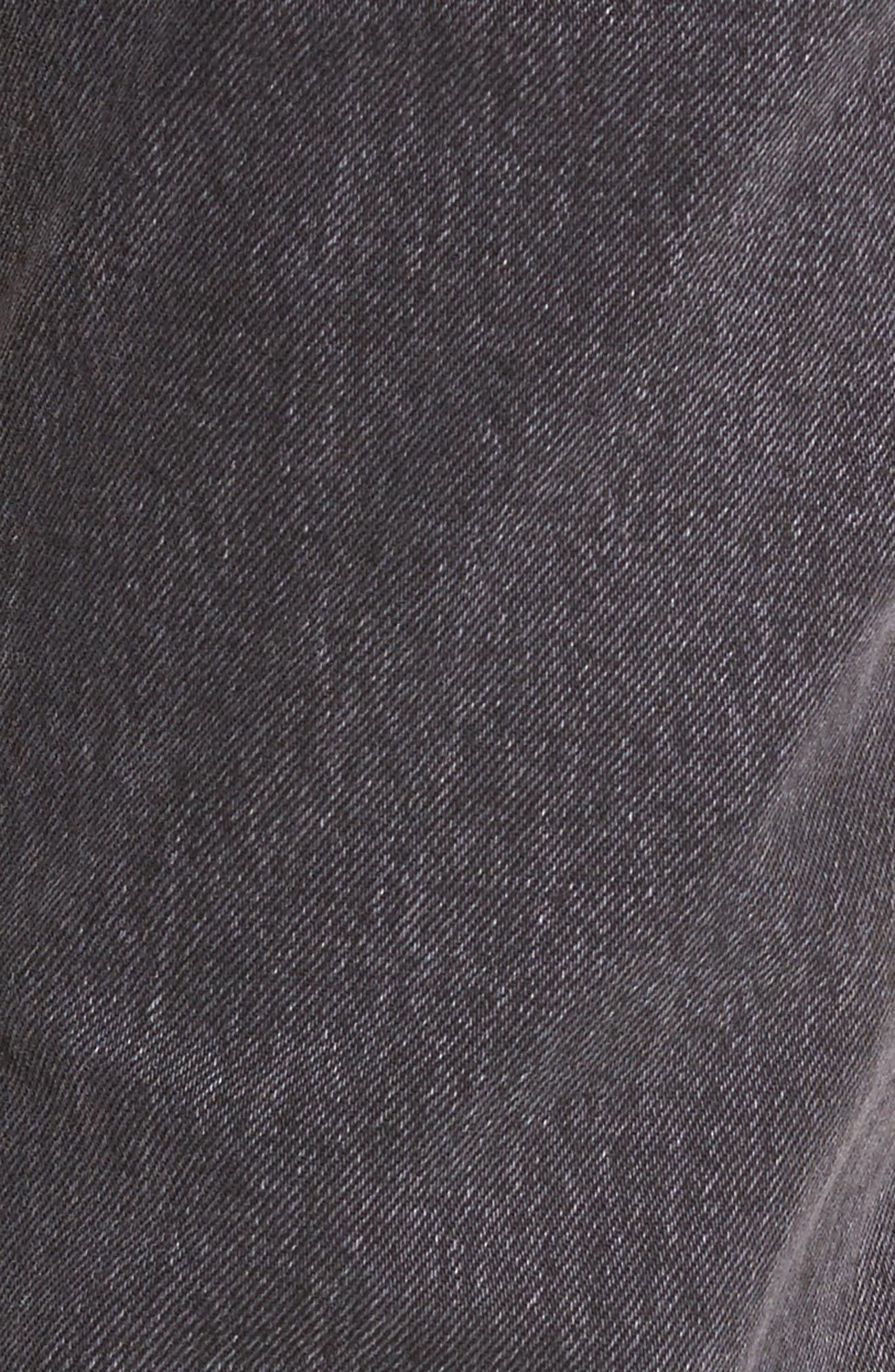 Wedgie High Waist Ankle Straight Leg Jeans,                             Alternate thumbnail 6, color,                             That Girl