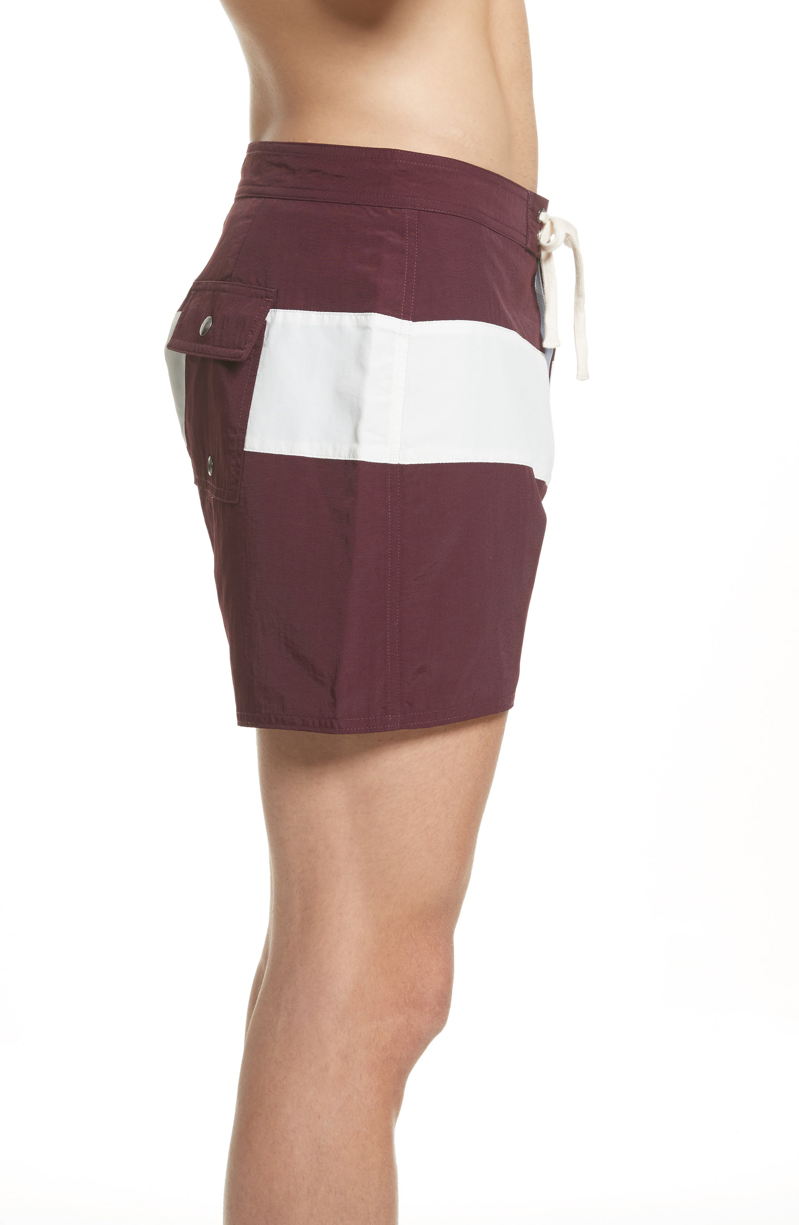 Grant Board Shorts,                             Alternate thumbnail 3, color,                             Dark Mauve/Ivory