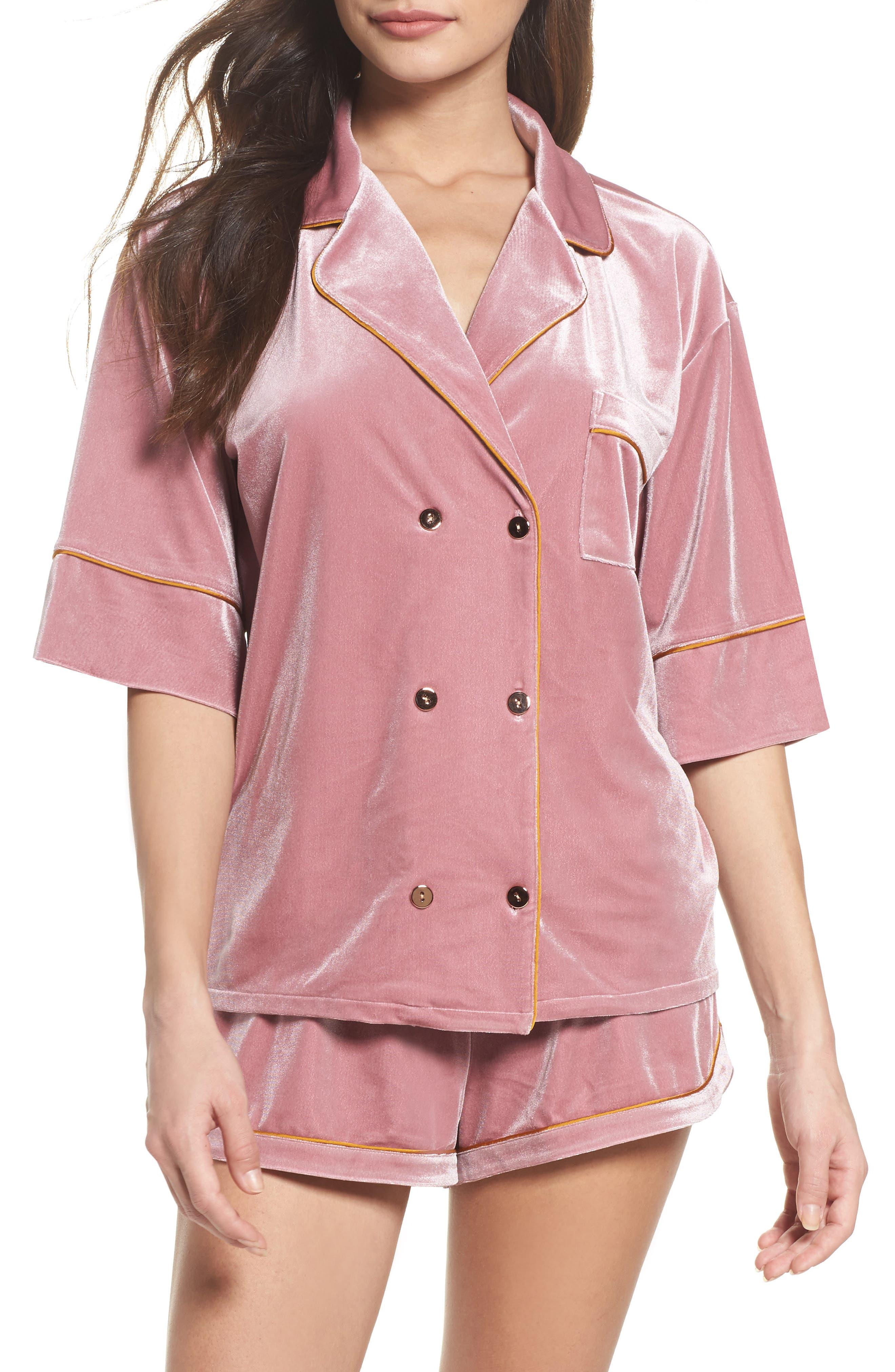 Chelsea28 It Takes Two Velvet Pajamas