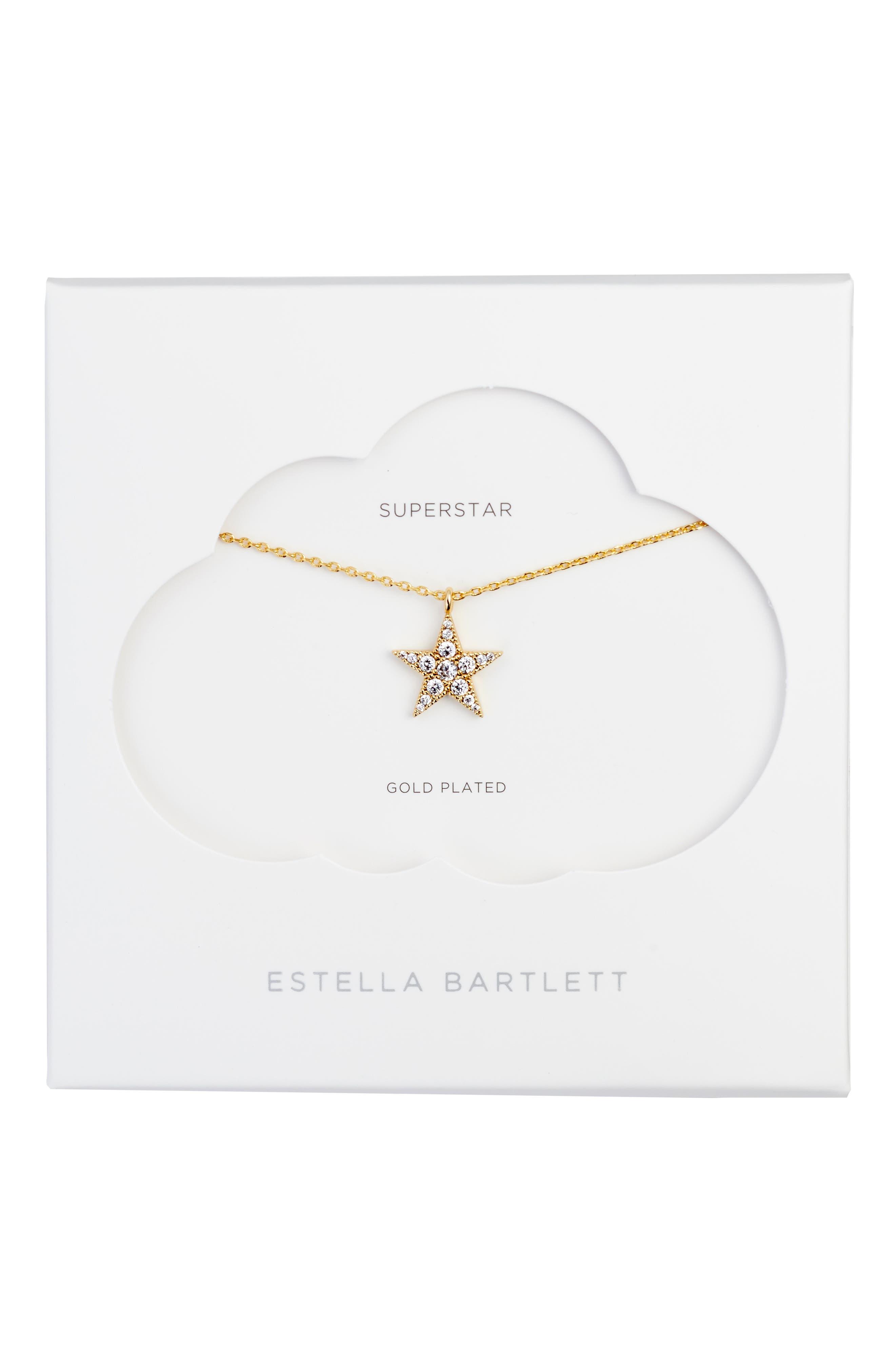 Main Image - Estella Bartlett Granulated Star Necklace