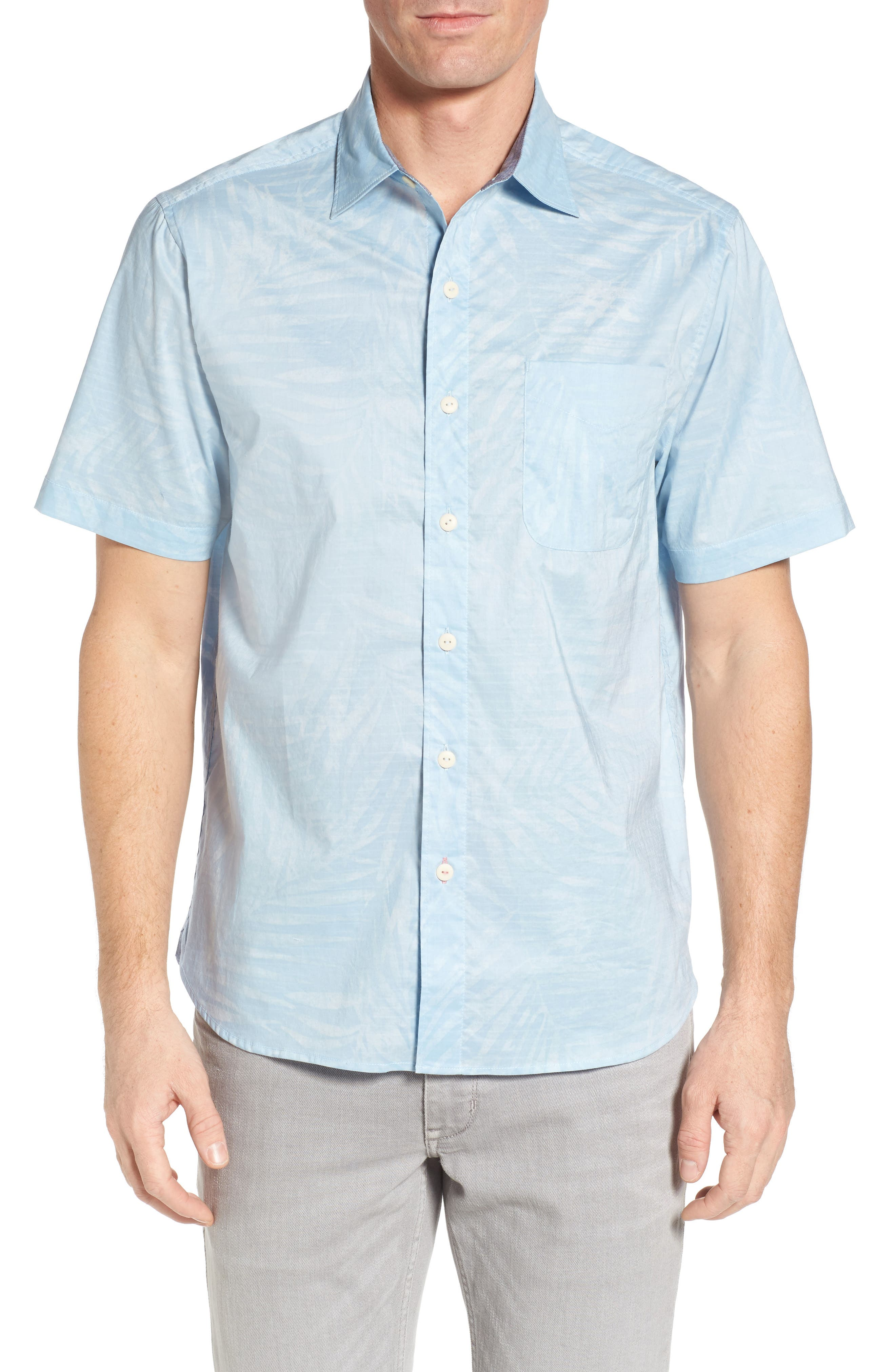 Vero Fronds Sport Shirt,                         Main,                         color, Opal