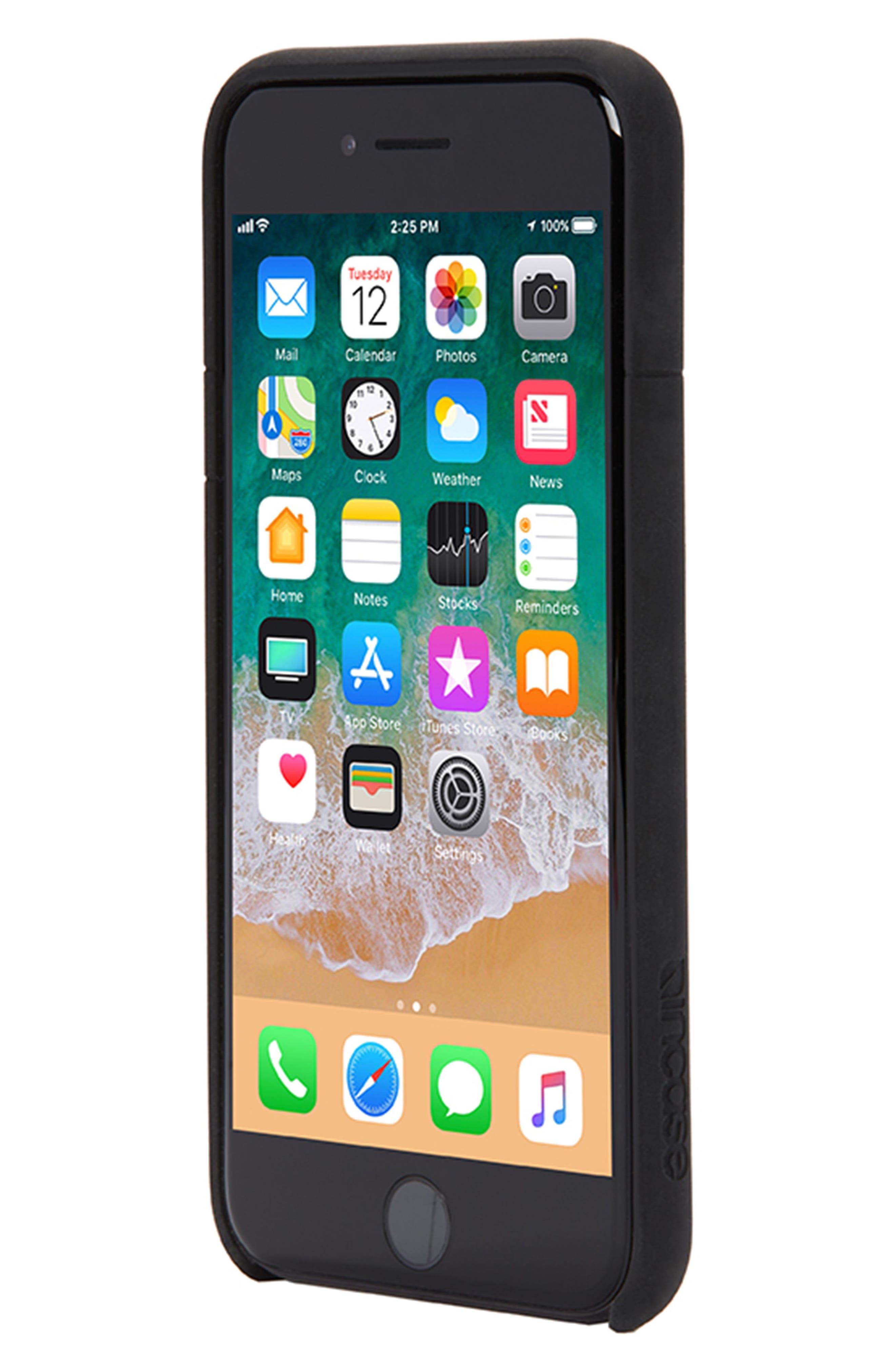 Facet iPhone 7/8 Case,                             Alternate thumbnail 3, color,                             Black