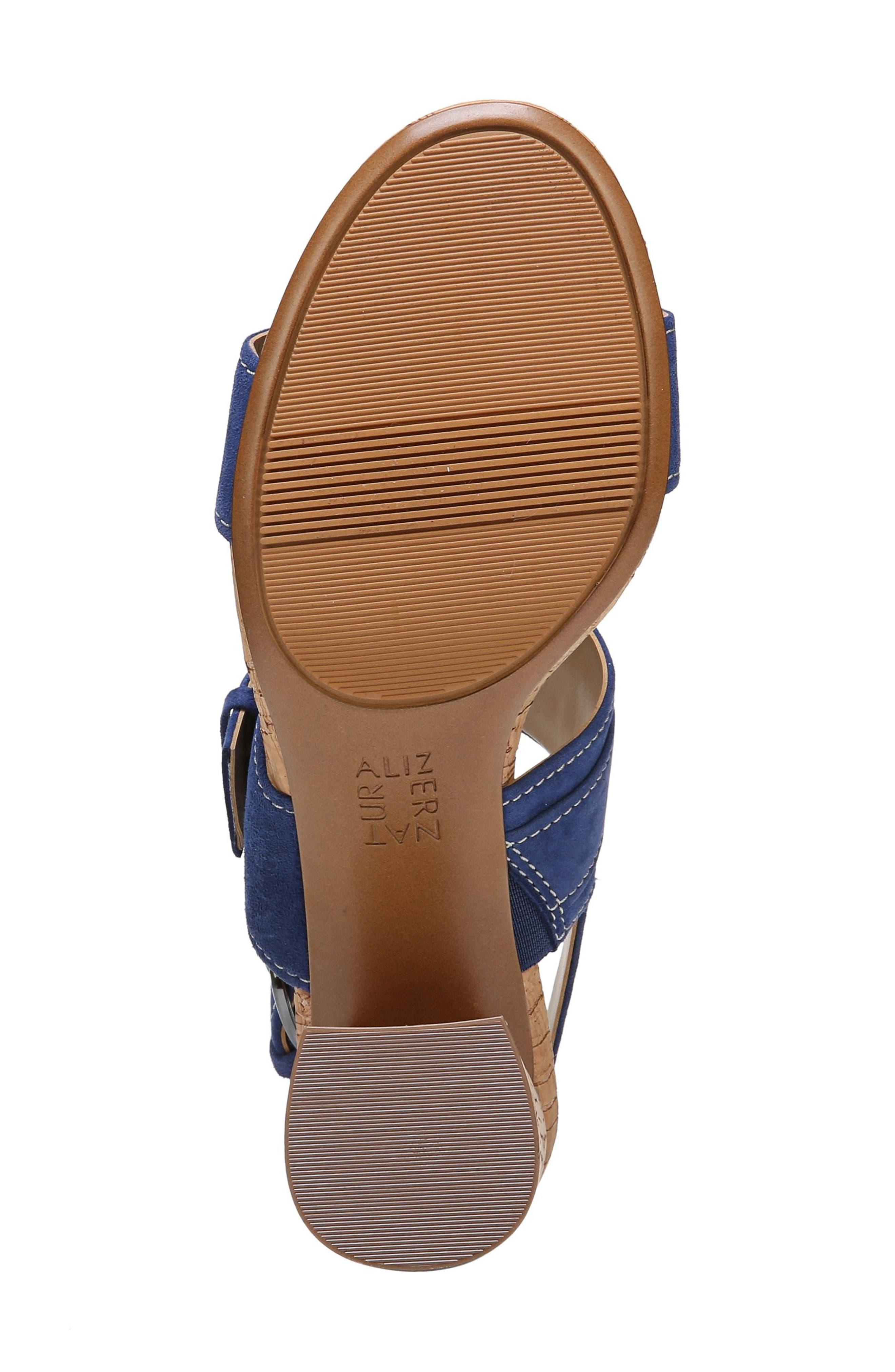 Camden Sandal,                             Alternate thumbnail 6, color,                             Blue Suede