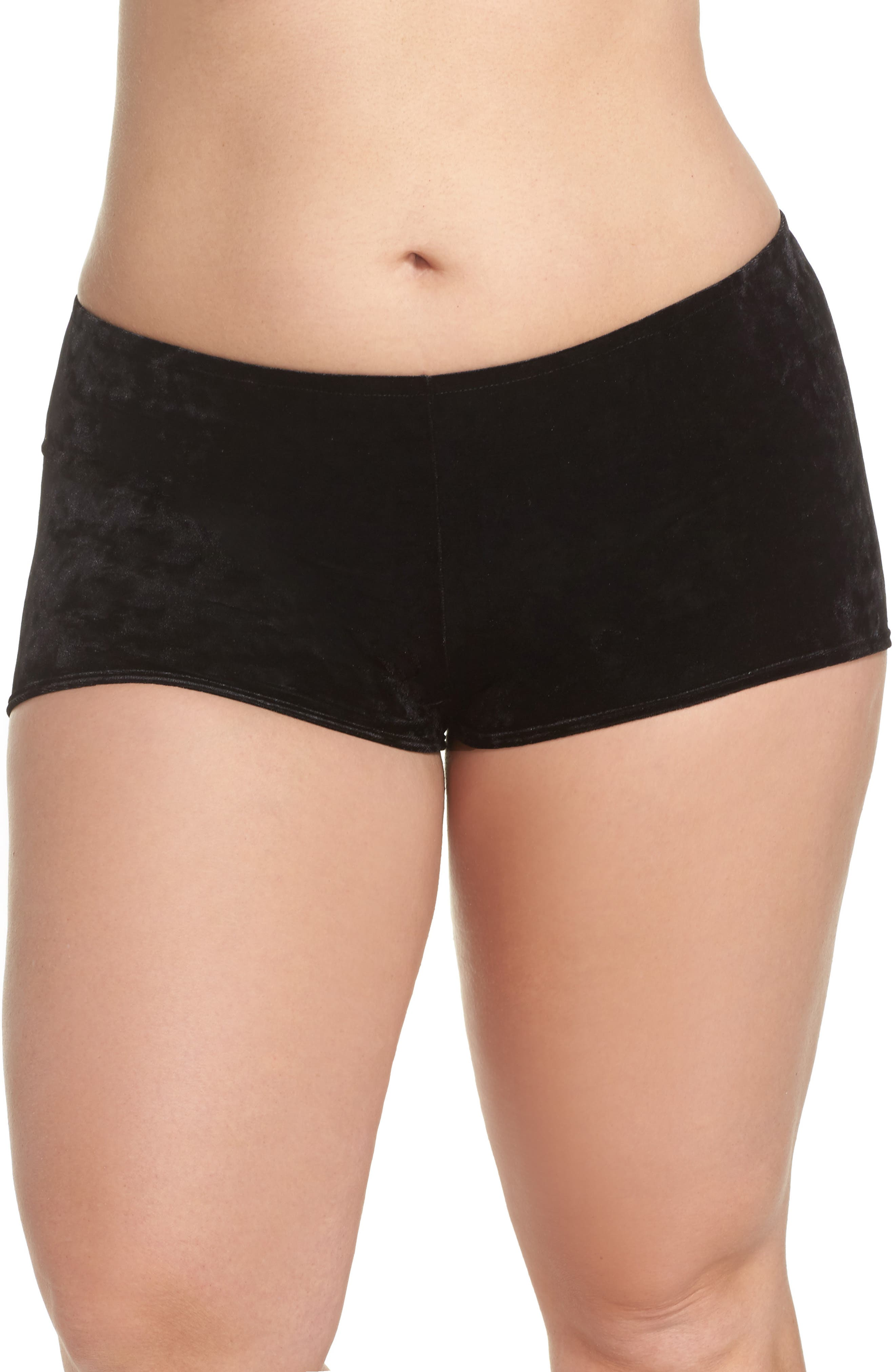 Main Image - Only Hearts Velvet Hipster Briefs (Plus Size)