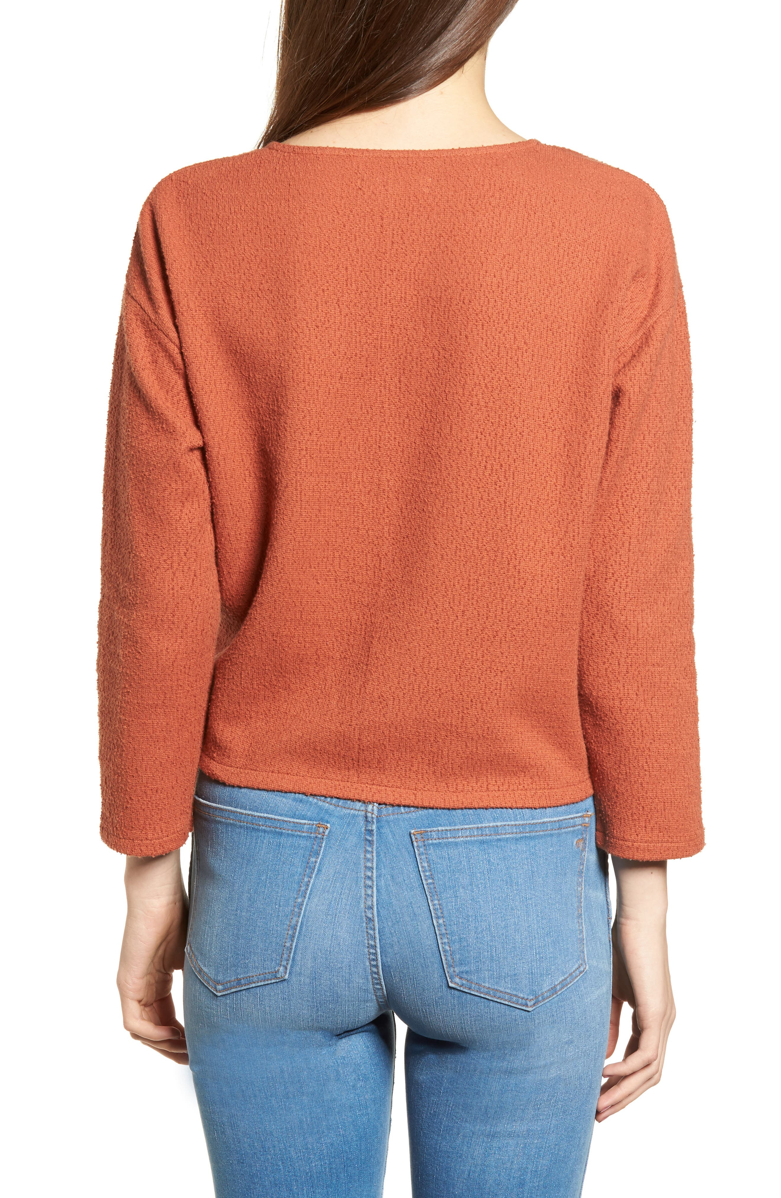Alternate Image 2  - Madewell Textured Tie Front Top