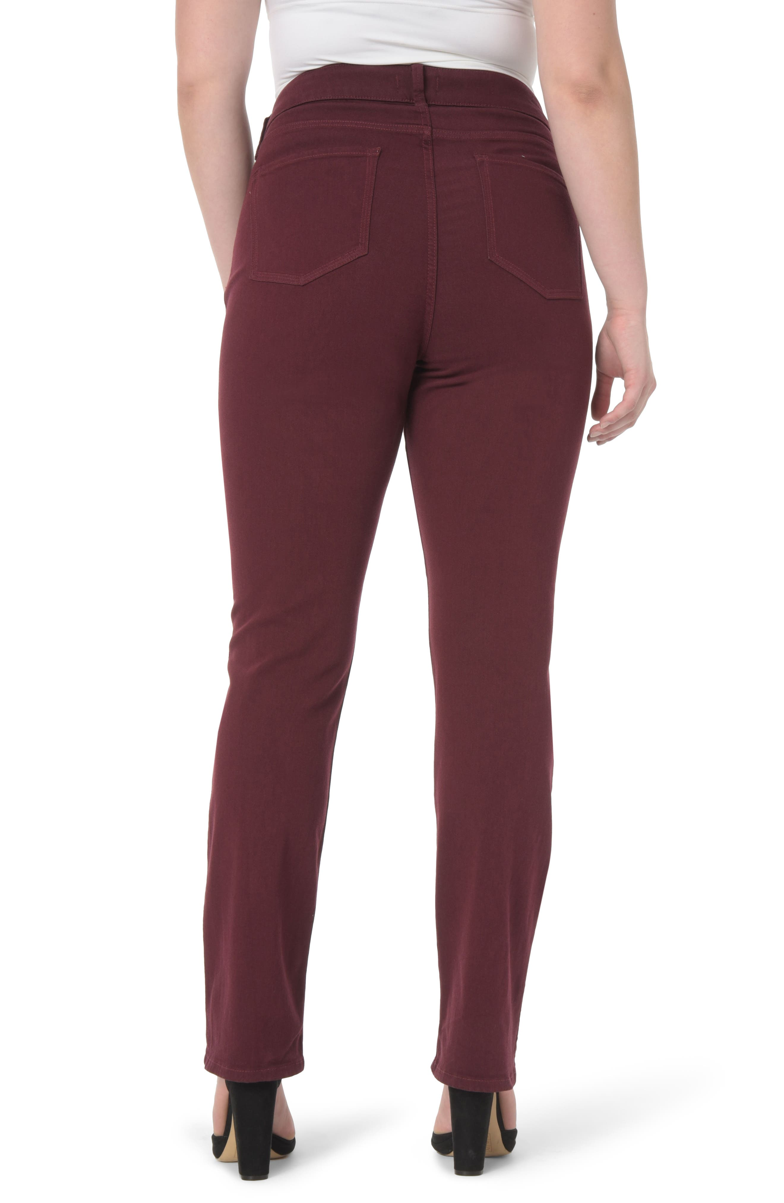 Marilyn Stretch Straight Leg Jeans,                             Alternate thumbnail 3, color,                             Deep Currant