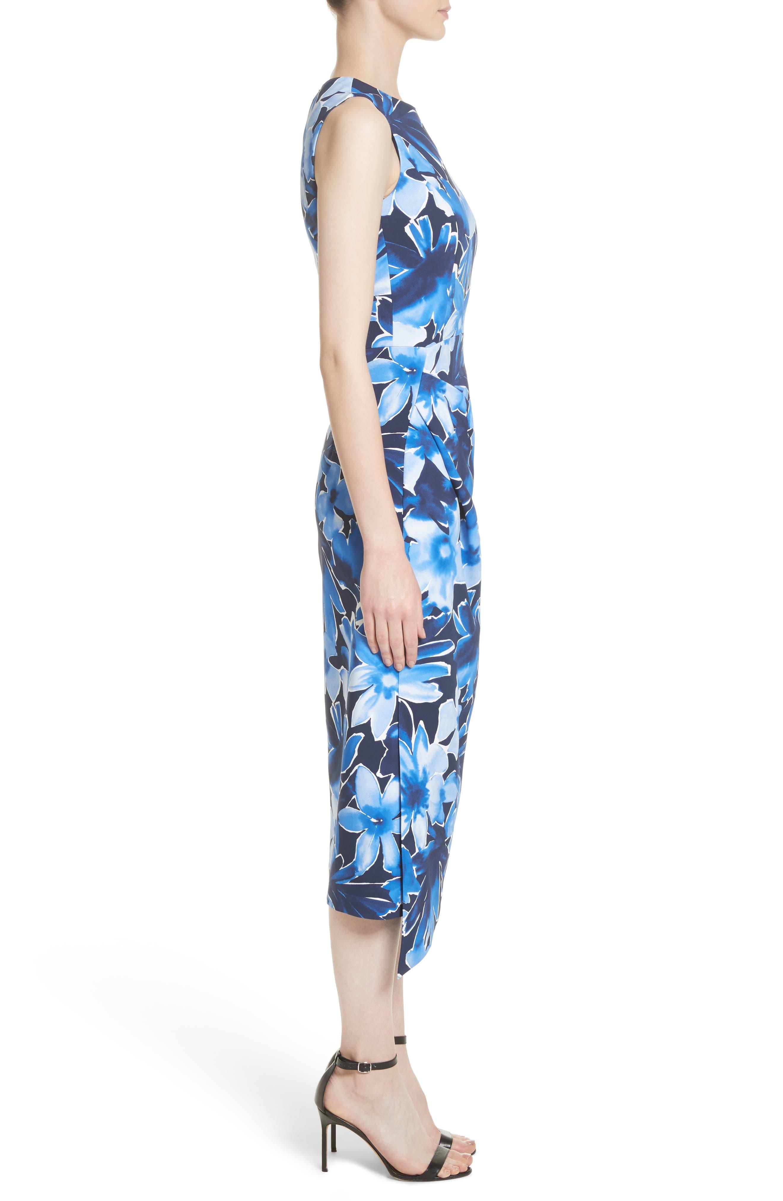 Alternate Image 3  - Michael Kors Draped Floral Print Sheath Dress
